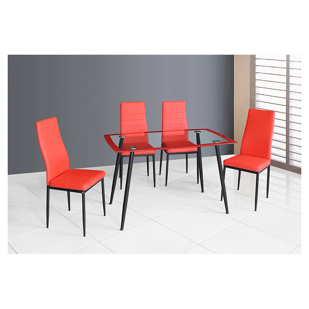 Stouferberg 5 Piece Dining Sets Regarding Most Current Orren Ellis Goldsberry 5 Piece Dining Table Set (#11 of 20)