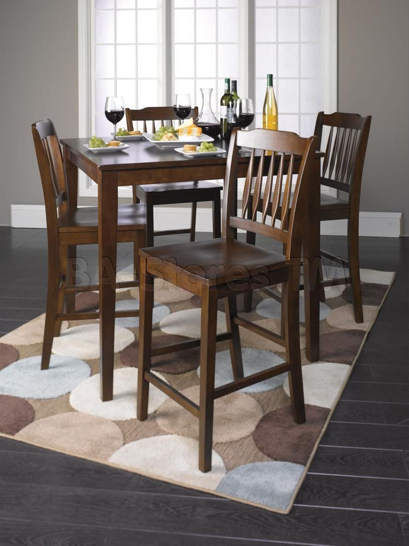 Inspiration about Tall Dining Table And Chairs (#13 of 20)