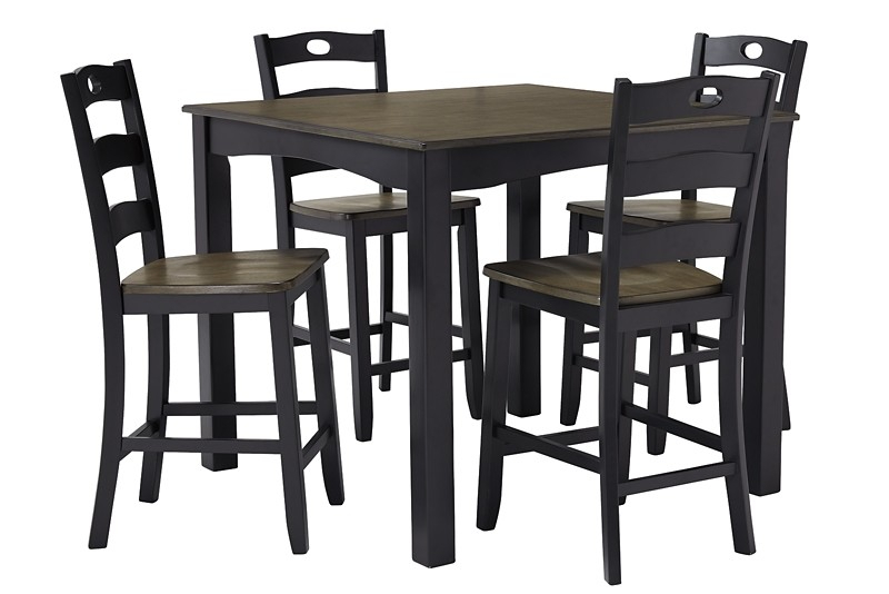 Inspiration about Tappahannock 3 Piece Counter Height Dining Sets With Trendy Froshburg – Grayish Brown/black – Square Counter Tbl Set (5/cn (#10 of 20)