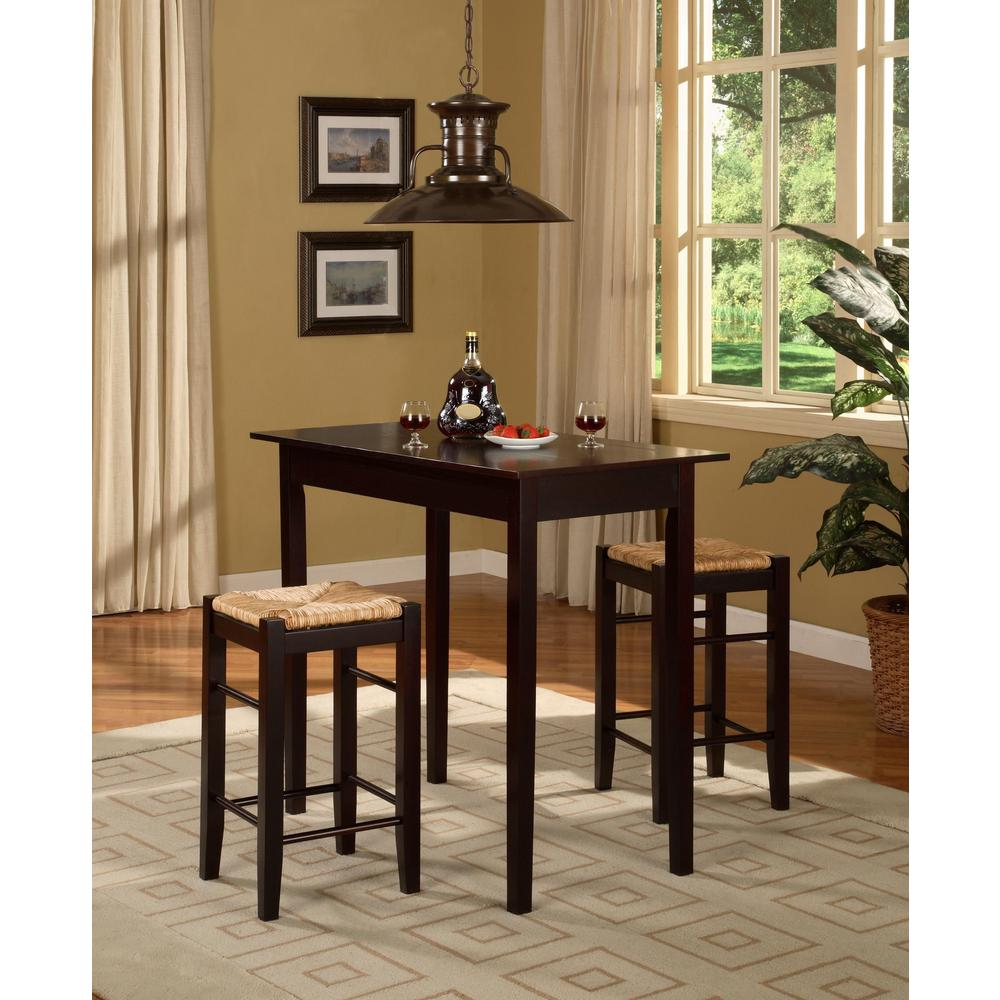 Tappahannock 3 Piece Counter Height Dining Sets Within Most Up To Date 3 Piece Kitchen Table Set & (View 7 of 20)