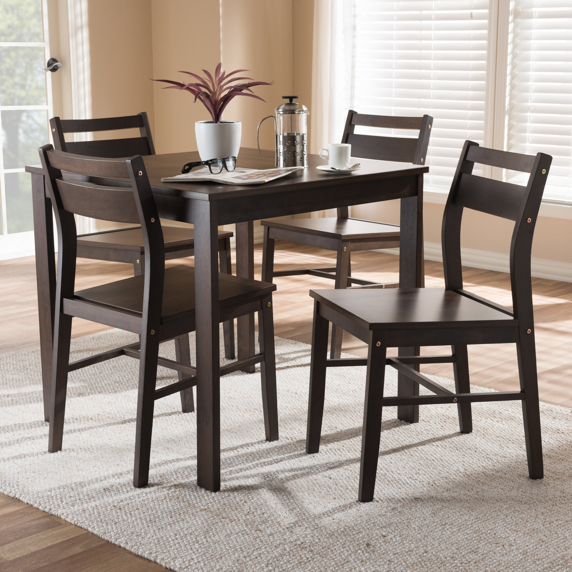 Inspiration about Taulbee 5 Piece Dining Sets Regarding Most Current Winston Porter Hersom 5 Piece Dining Set 192455631165 (#4 of 20)
