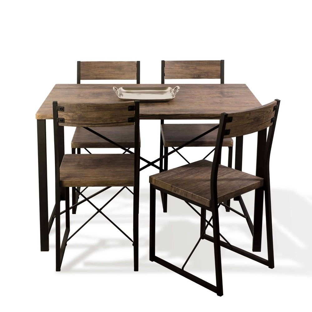 Inspiration about Telauges 5 Piece Dining Sets Regarding Well Known Urban Blend Dining Set Brown/black – Urb Space In 2019 (#10 of 20)
