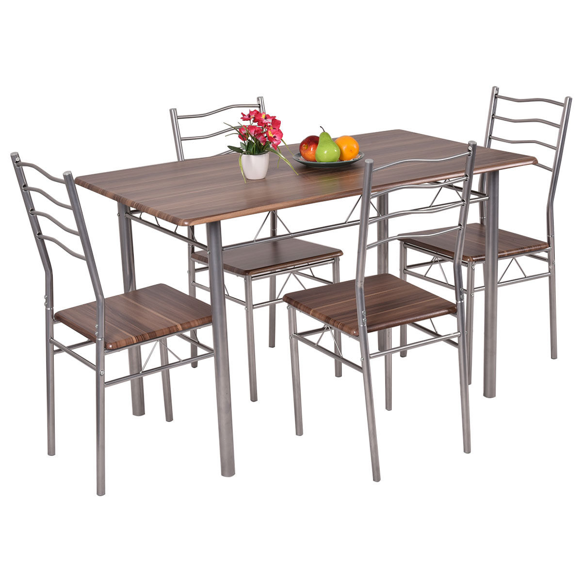 Tms Mason 5 Piece Cross Back Dining Set, Multiple Colors – Walmart Intended For Trendy Cargo 5 Piece Dining Sets (#15 of 20)