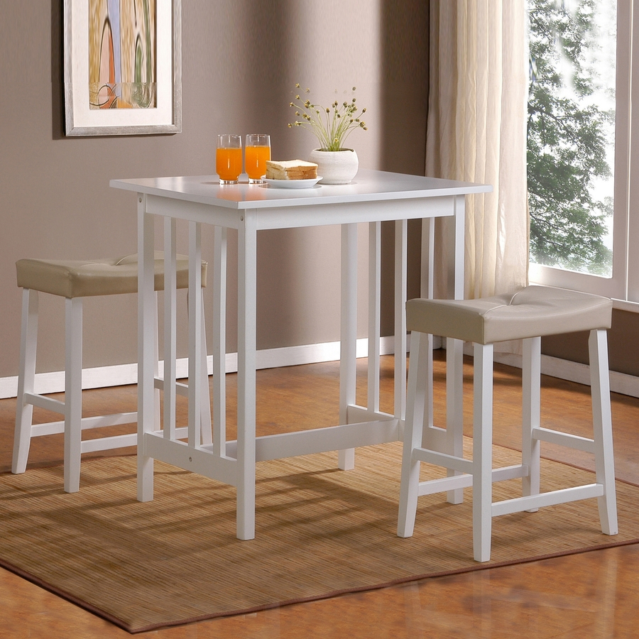 Inspiration about Trendy 3 Piece Breakfast Dining Sets For Home Sonata White Dining Set With Counter Height Table At Lowes (#19 of 20)