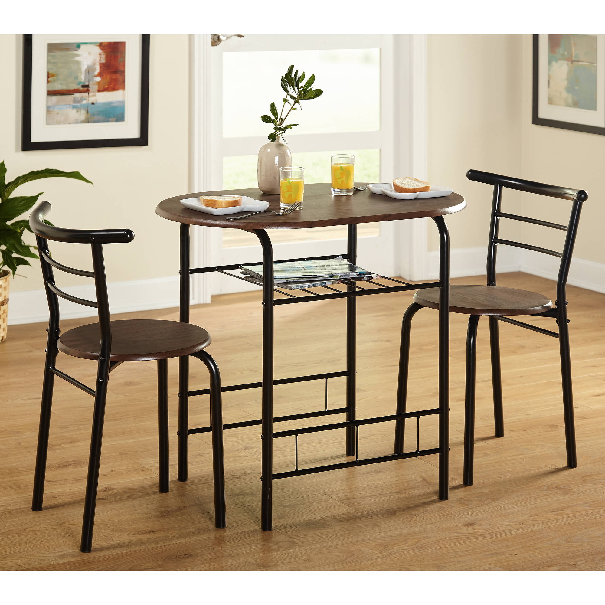 Trendy 3 Piece Dining Sets Pertaining To Tms 3 Piece Bistro Dining Set – Walmart (#17 of 20)