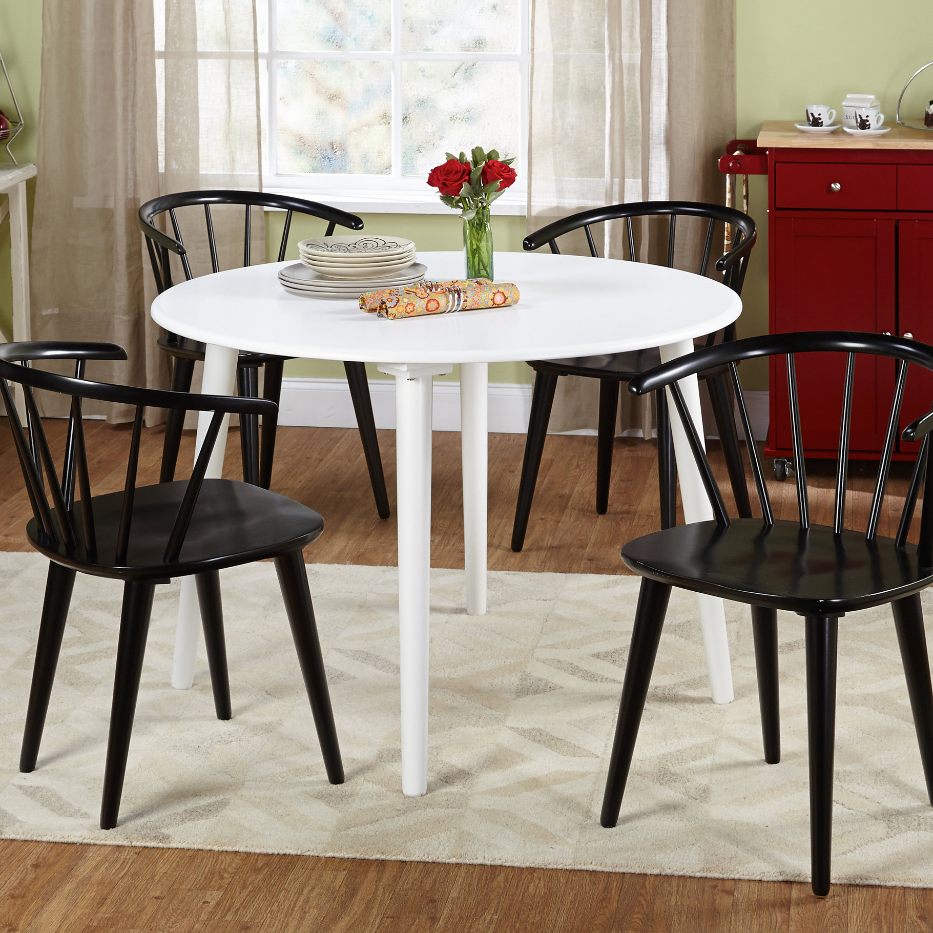 Inspiration about Trendy Arielle 5 Piece Wood Dining Set & Reviews (#6 of 20)