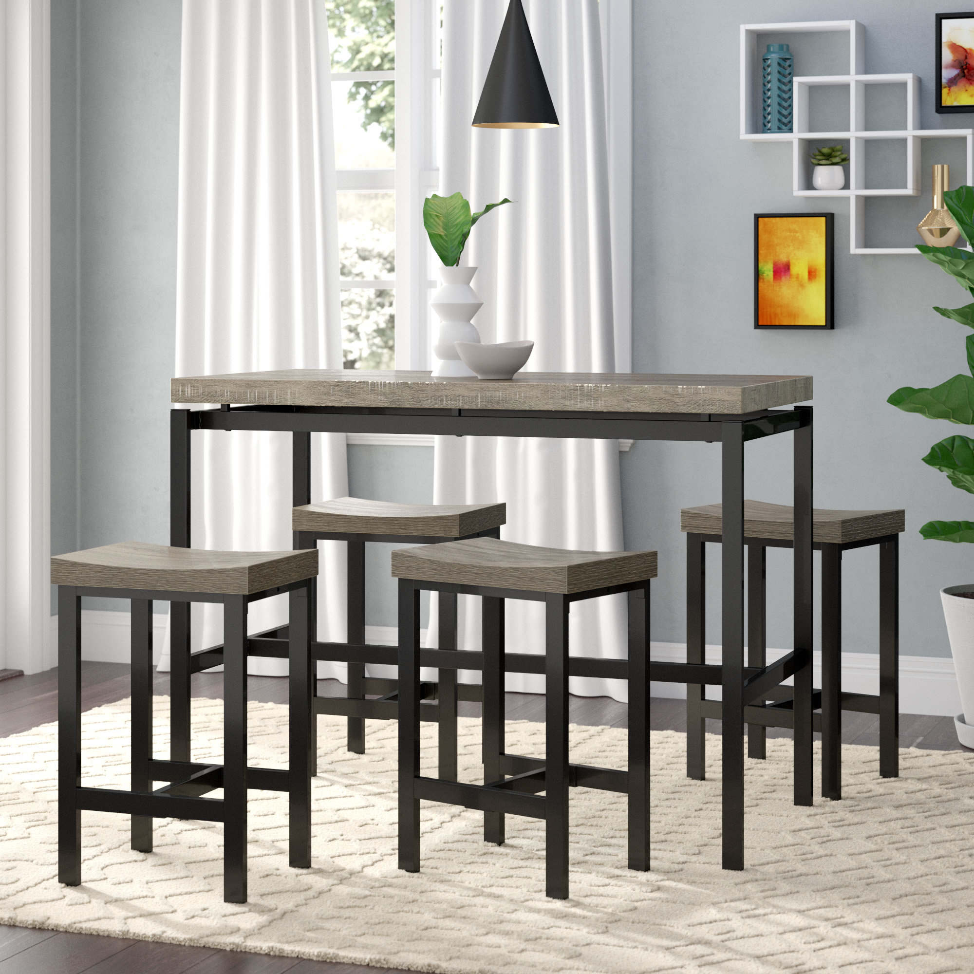 Trendy Bryson 5 Piece Dining Sets Intended For Wrought Studio Beveridge 5 Piece Dining Set & Reviews (View 9 of 20)