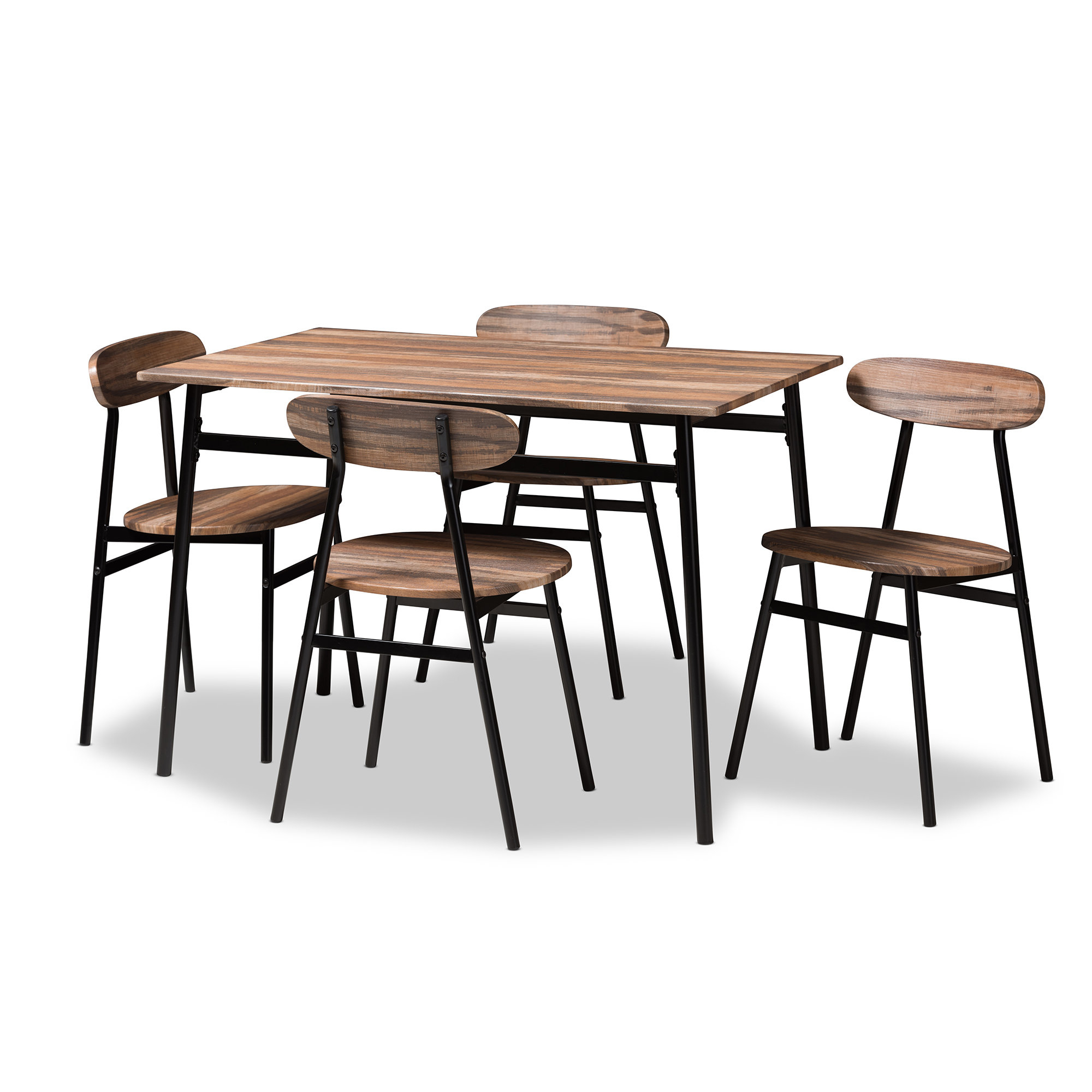 Inspiration about Trendy Emmeline 5 Piece Breakfast Nook Dining Sets Intended For Union Rustic Telauges 5 Piece Dining Set & Reviews (#6 of 20)