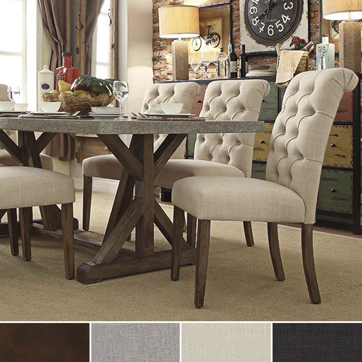 Inspiration about Trendy Evellen 5 Piece Solid Wood Dining Sets (Set Of 5) In Immerse Yourself In The Regal Manufacturing Of This Scrolled Back (#13 of 20)