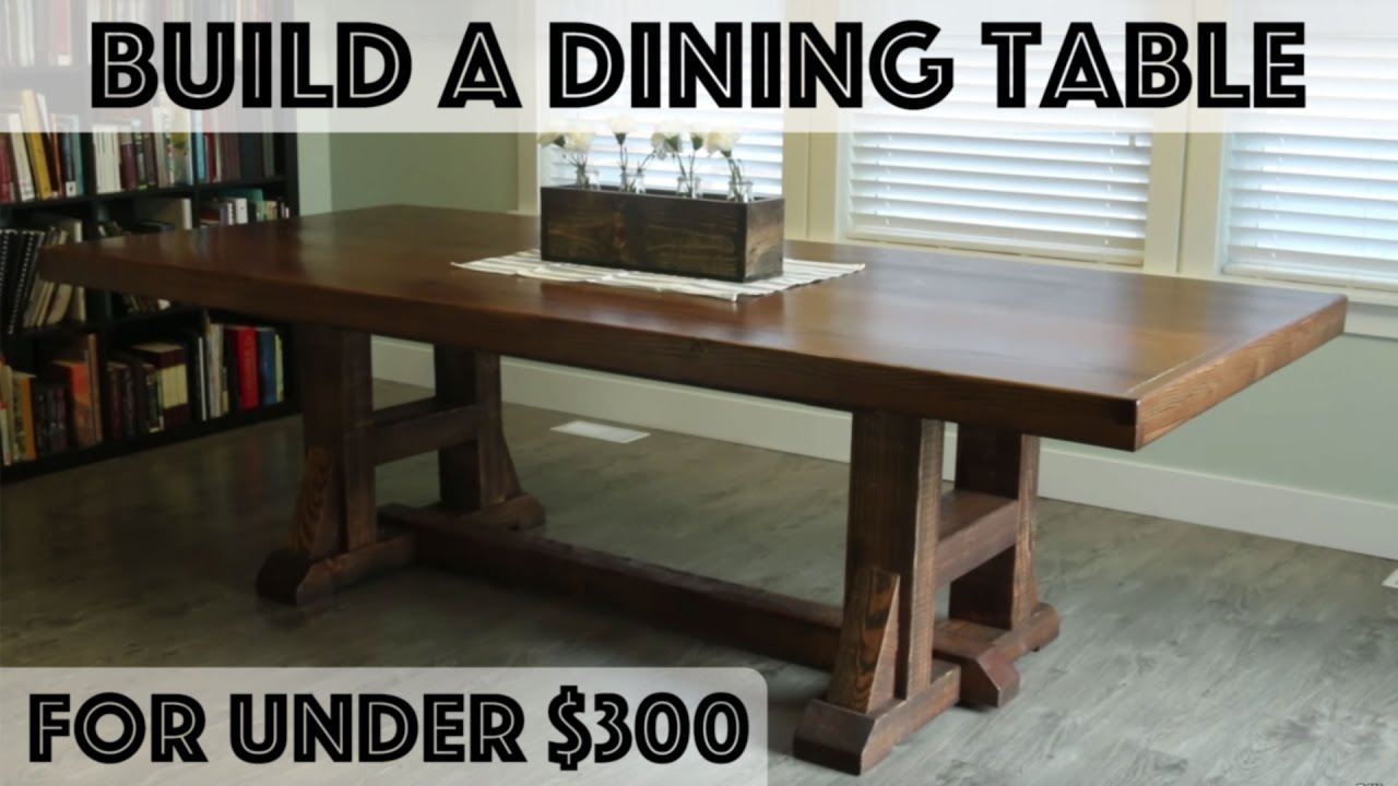 Inspiration about Trendy Falmer 3 Piece Solid Wood Dining Sets Intended For Diy Dining Table: Pottery Barn Inspired Farmhouse Table – Youtube (#11 of 20)