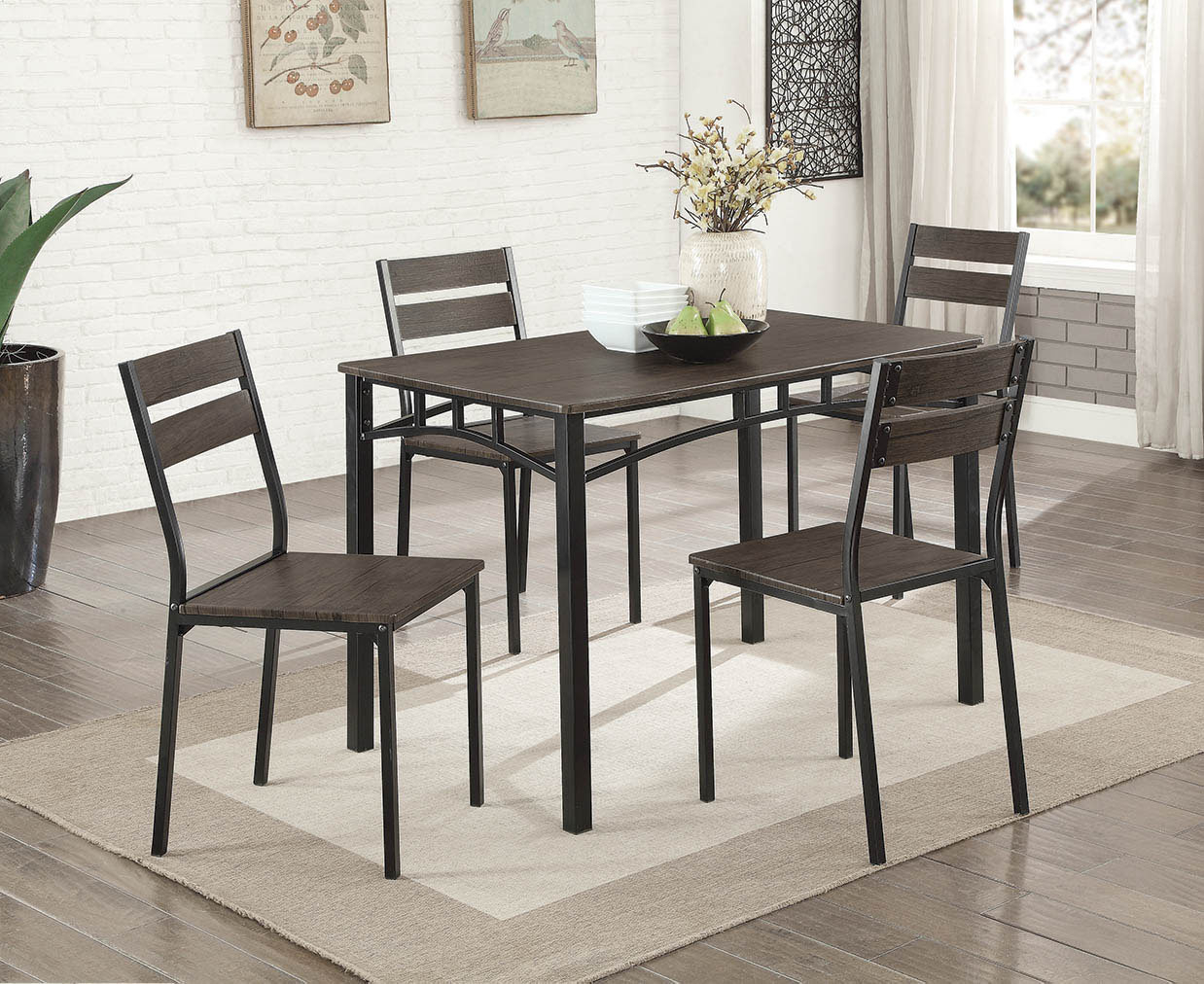 Trendy Gracie Oaks Autberry 5 Piece Dining Set & Reviews (#11 of 20)