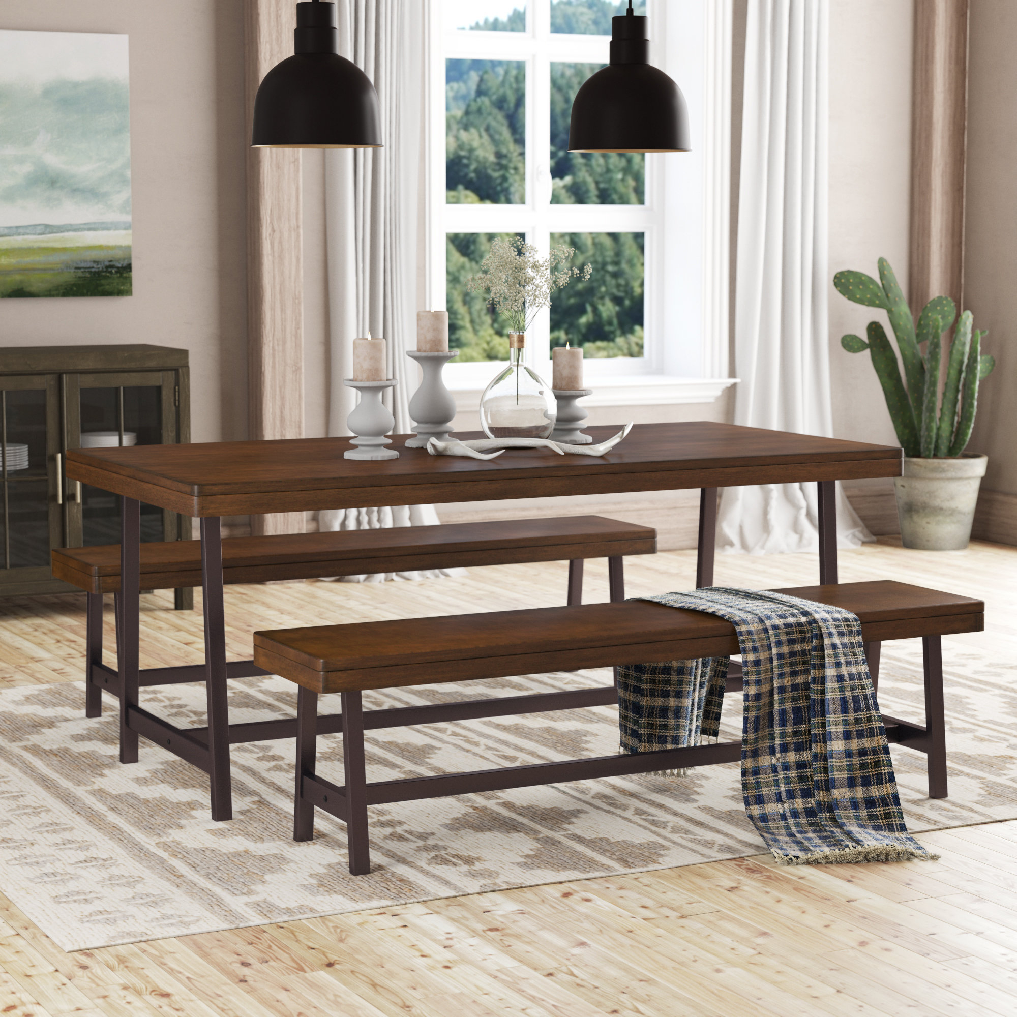 Inspiration about Trendy Loon Peak Huntington 3 Piece Dining Set & Reviews (#12 of 20)