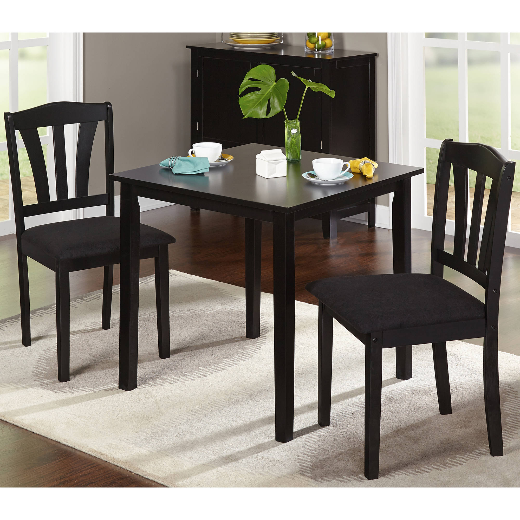 Trendy Metropolitan 3 Piece Dining Set, Multiple Finishes – Walmart Intended For Rossiter 3 Piece Dining Sets (#17 of 20)