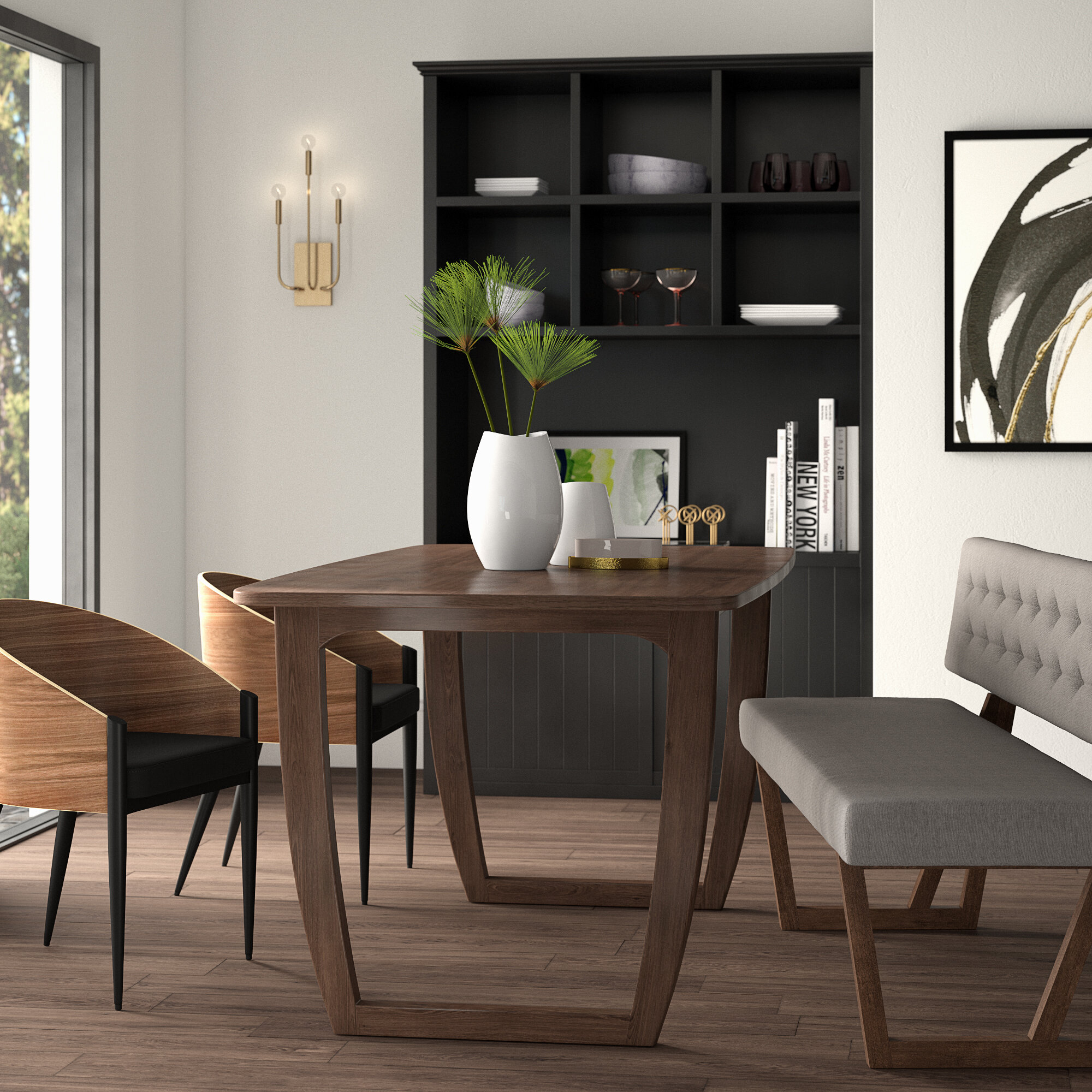 Inspiration about Trendy Mukai 5 Piece Dining Sets Inside Mercury Row Mukai Dining Table & Reviews (#3 of 20)