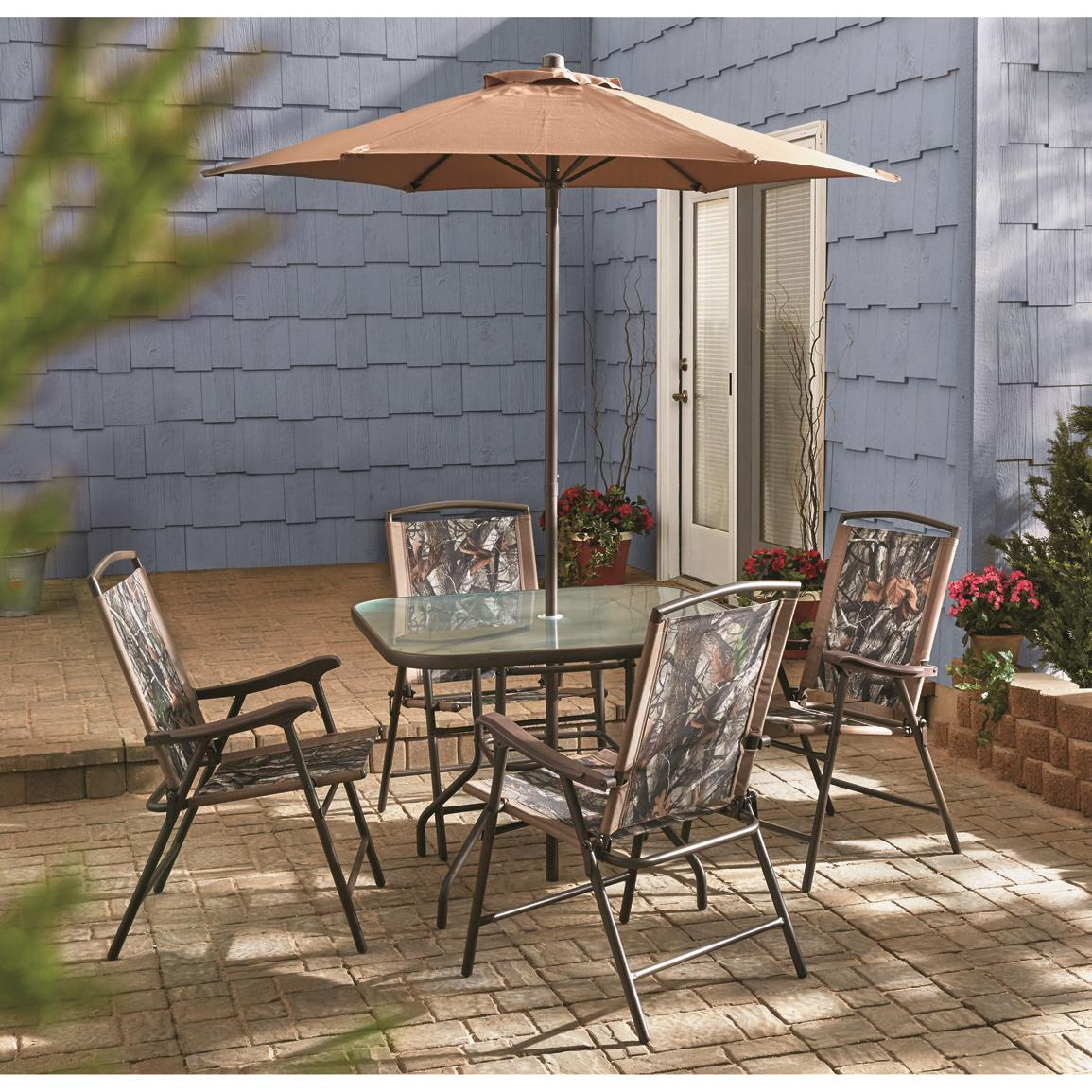 Inspiration about Trendy Northwoods 3 Piece Dining Sets With 8 Piece Castlecreek Shale Island Patio Dining Set 624351, Castle (#17 of 20)