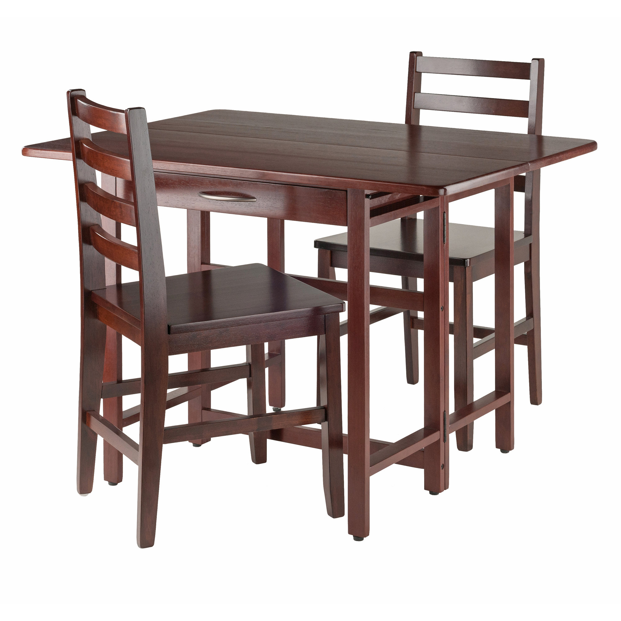 Trendy Red Barrel Studio Culley 3 Piece Drop Leaf Dining Set & Reviews Intended For Crownover 3 Piece Bar Table Sets (#17 of 20)