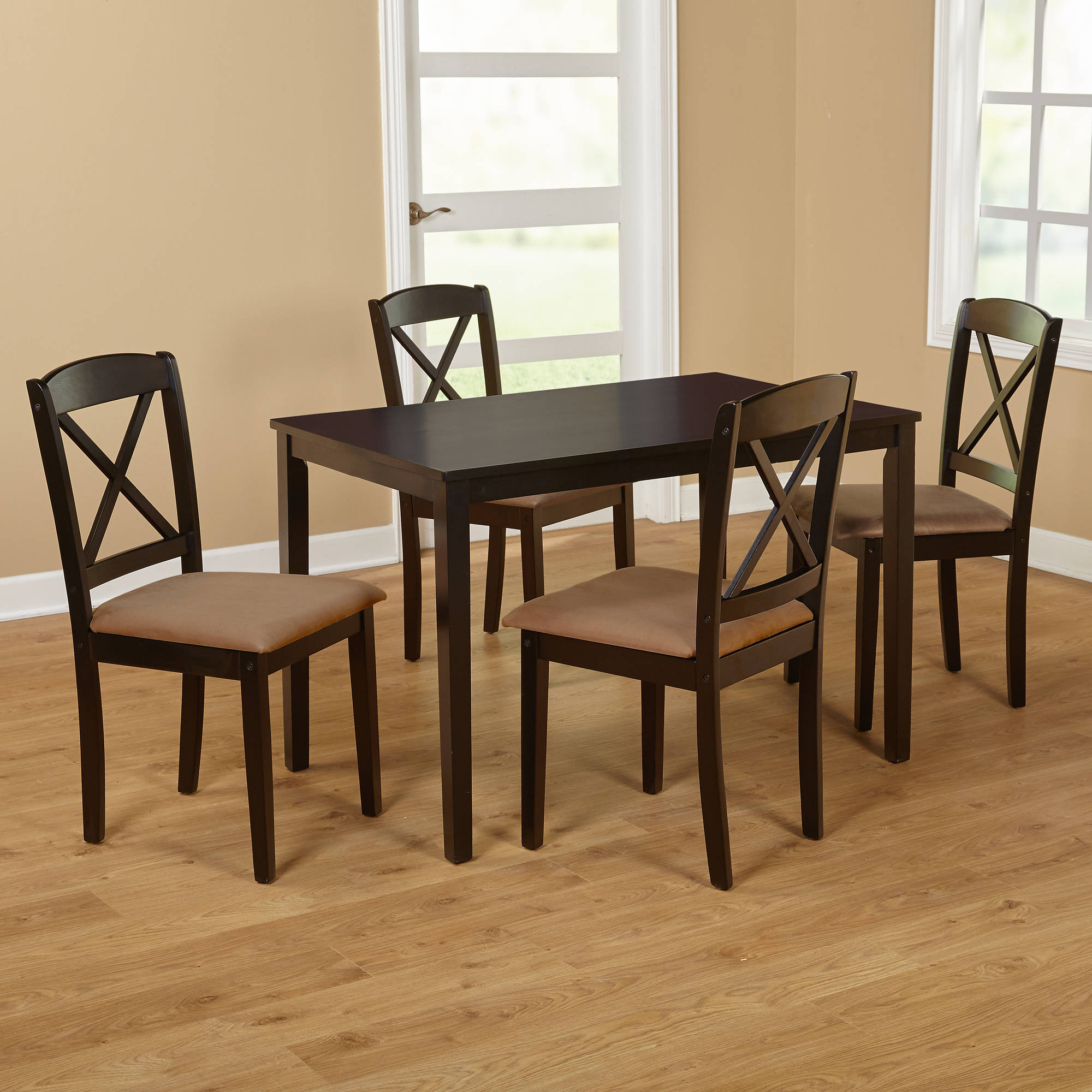 Inspiration about Trendy Tms Mason 5 Piece Cross Back Dining Set, Multiple Colors – Walmart For Cargo 5 Piece Dining Sets (#4 of 20)