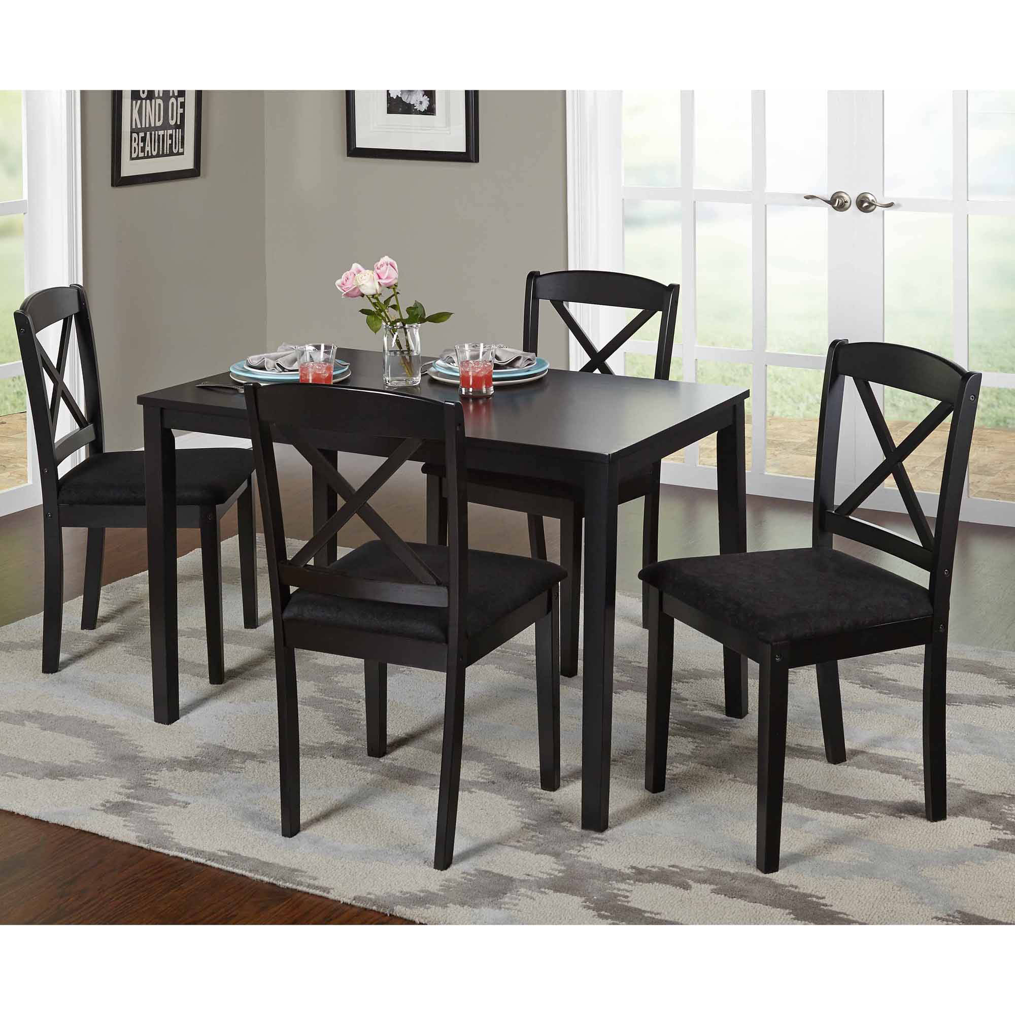 Inspiration about Trendy Tms Mason 5 Piece Cross Back Dining Set, Multiple Colors – Walmart Inside Cargo 5 Piece Dining Sets (#2 of 20)
