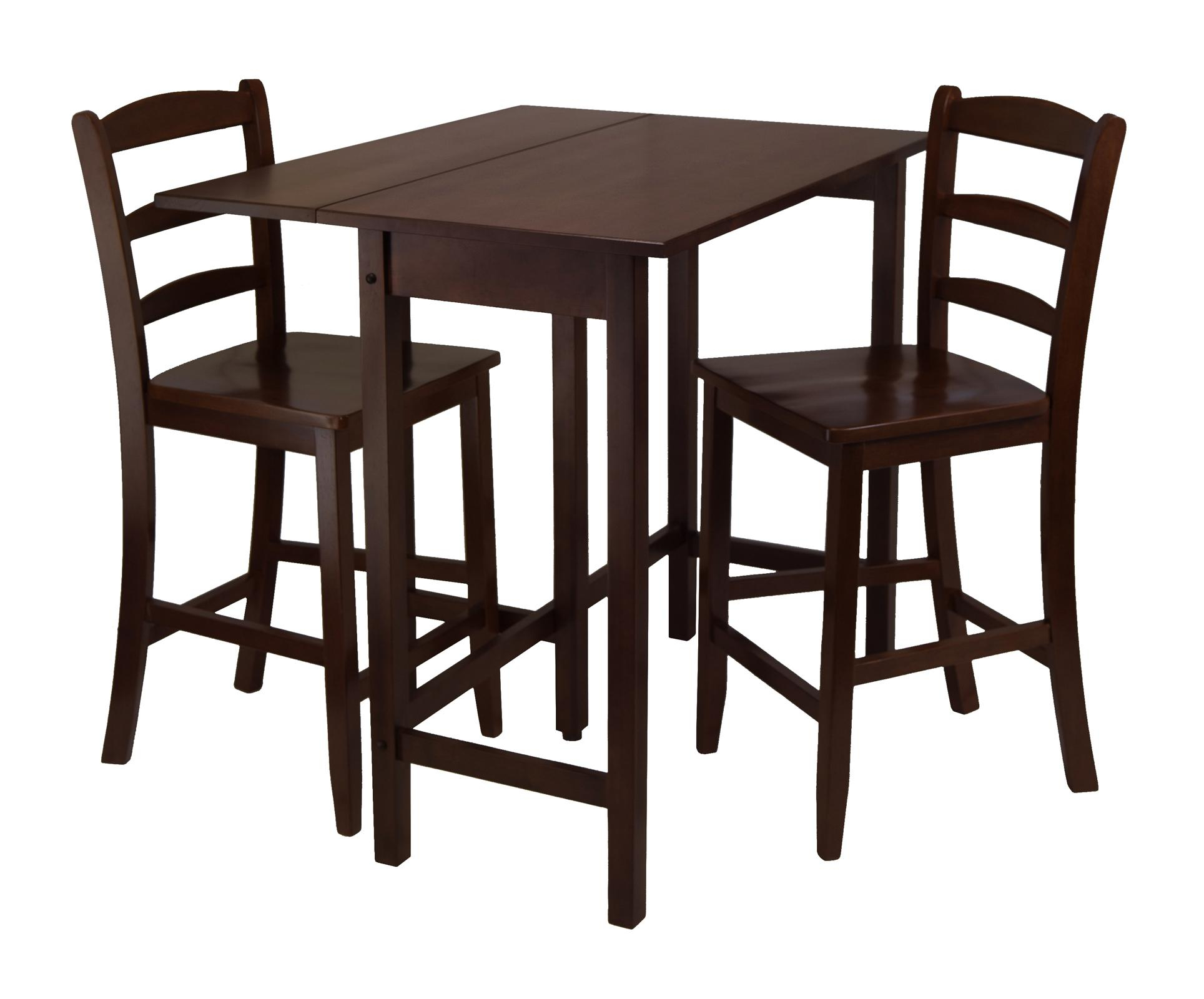 Inspiration about Trendy Winsome Lynnwood 3Pc Drop Leaf High Table With 2 Counter Throughout Winsome 3 Piece Counter Height Dining Sets (#8 of 20)