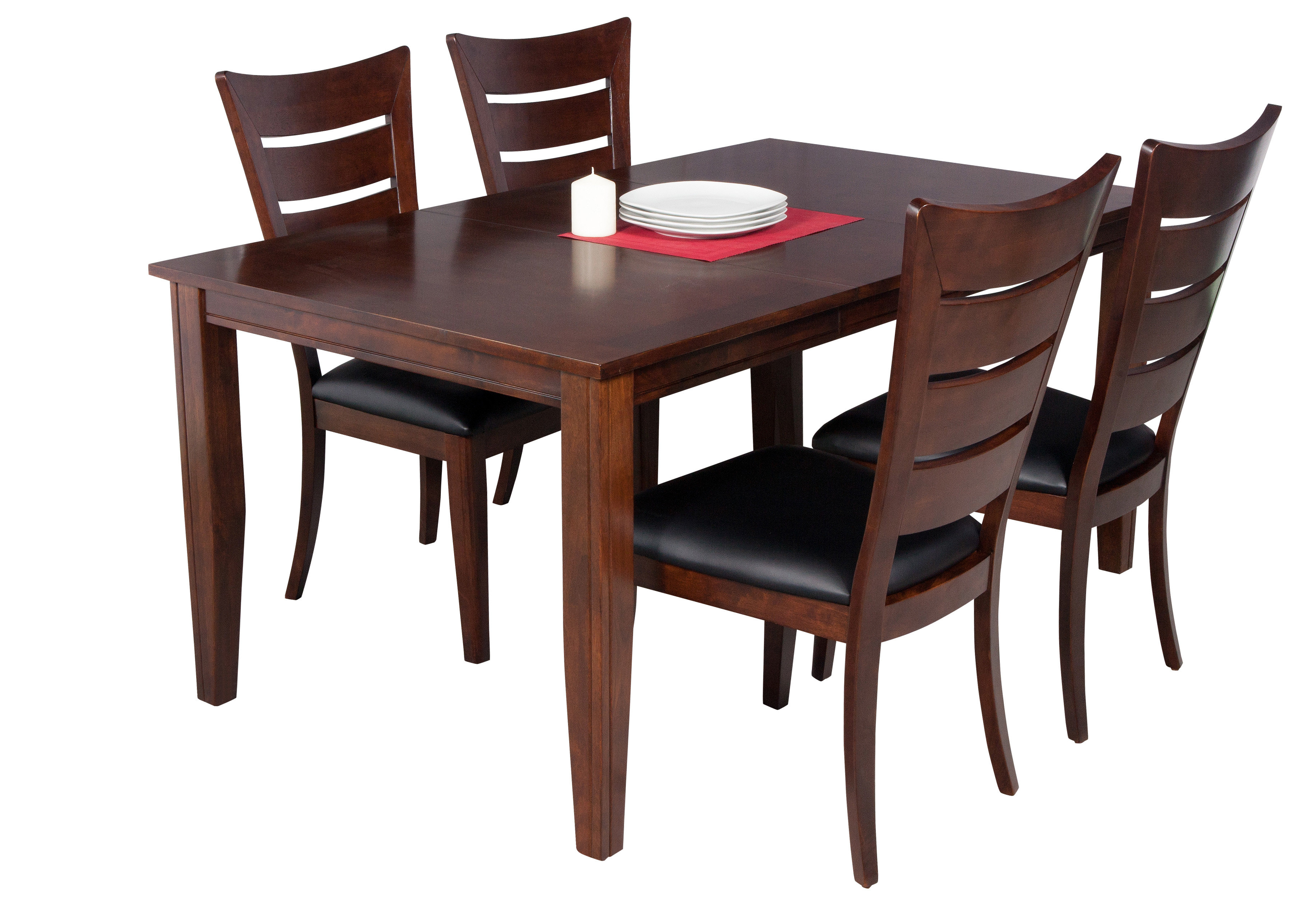 Ttpfurnish Aden 5 Piece Solid Wood Dining Set (#17 of 20)