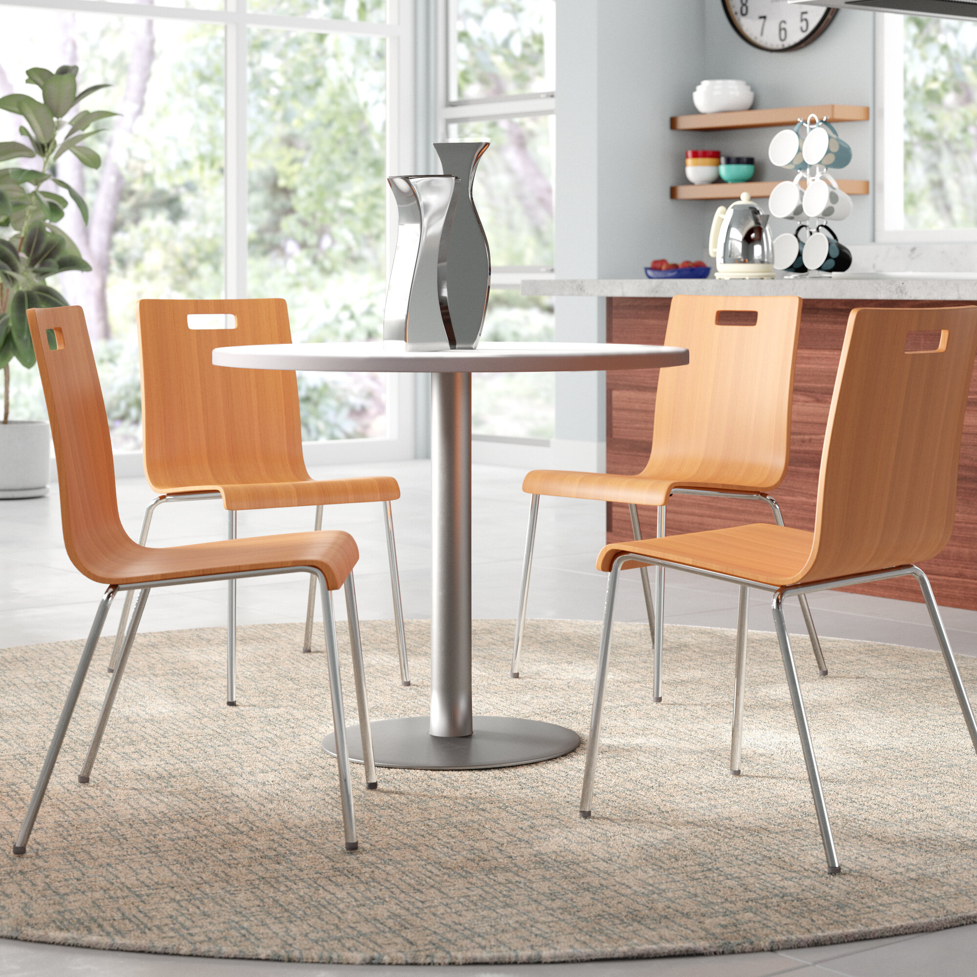 Inspiration about Turnalar 5 Piece Dining Sets In Favorite Kfi Seating 5 Piece Dining Set & Reviews (#1 of 20)