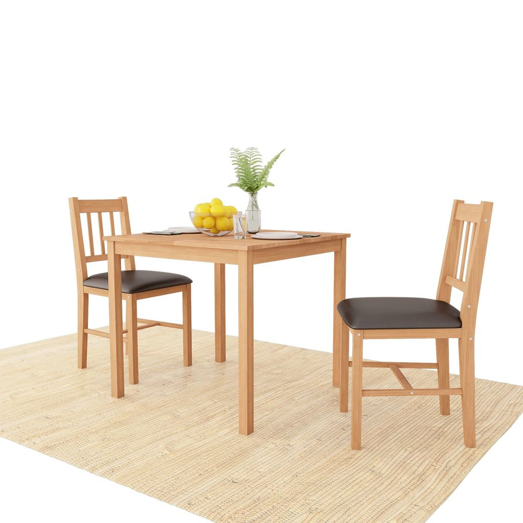 Inspiration about Vidaxl Dining Room Set 3 Pieces Solid Oak For Sale In London Inside 2019 Lonon 3 Piece Dining Sets (#2 of 20)