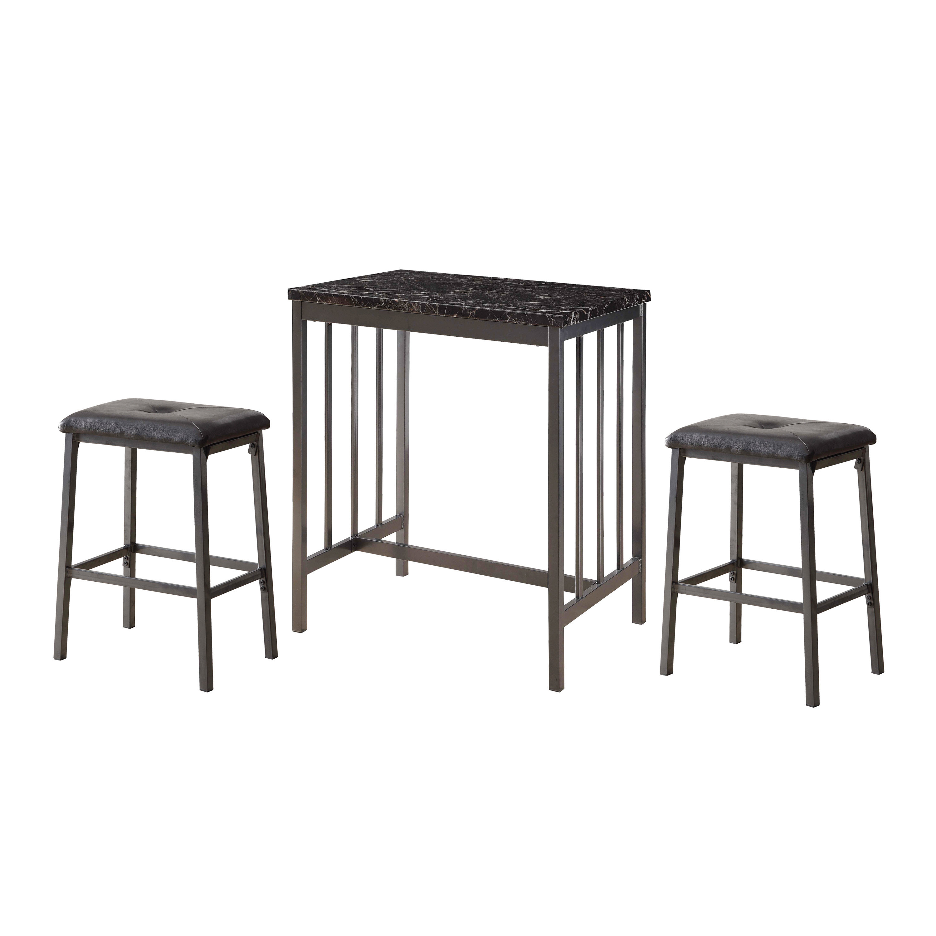Popular Photo of Mizpah 3 Piece Counter Height Dining Sets
