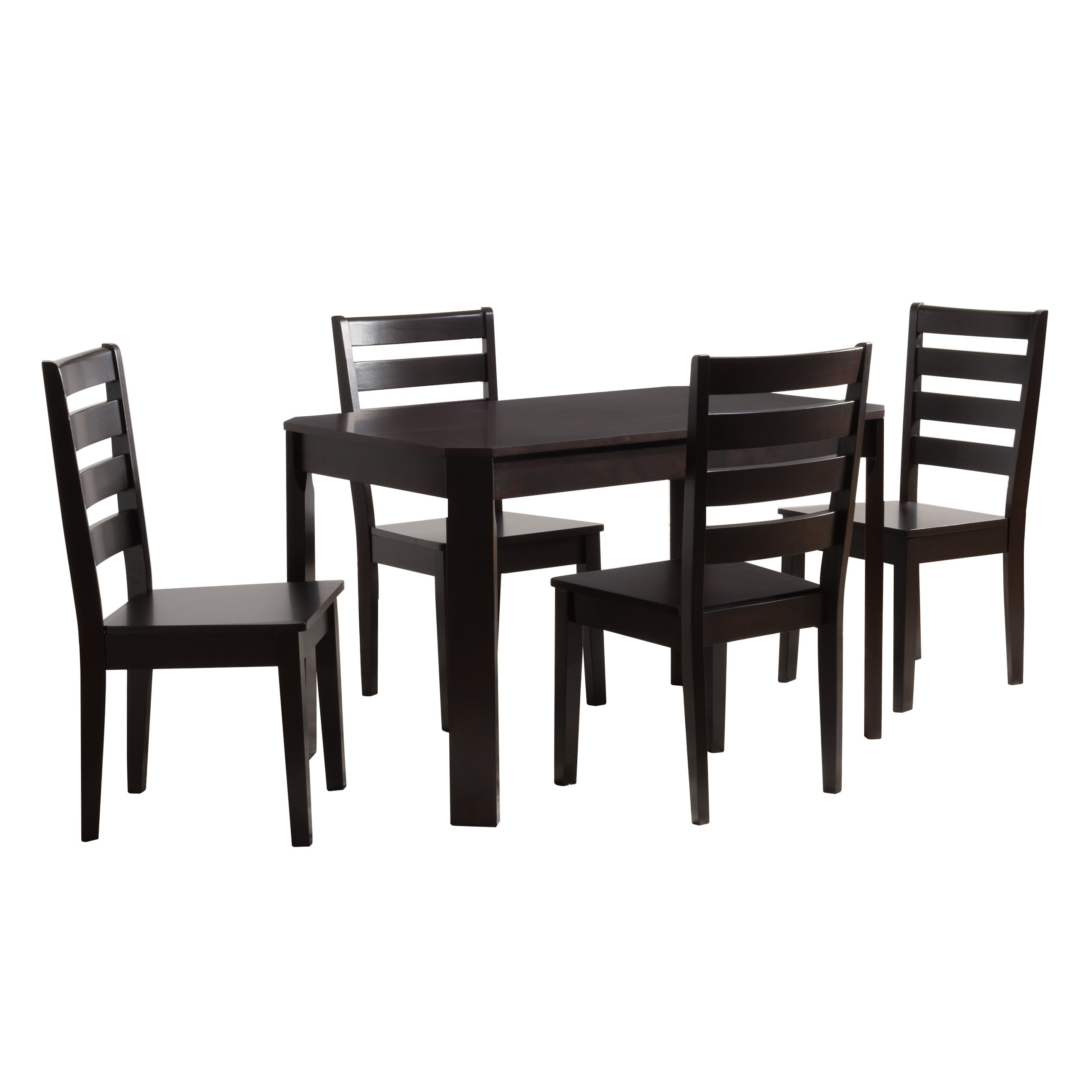 Popular Photo of Goodman 5 Piece Solid Wood Dining Sets (Set Of 5)