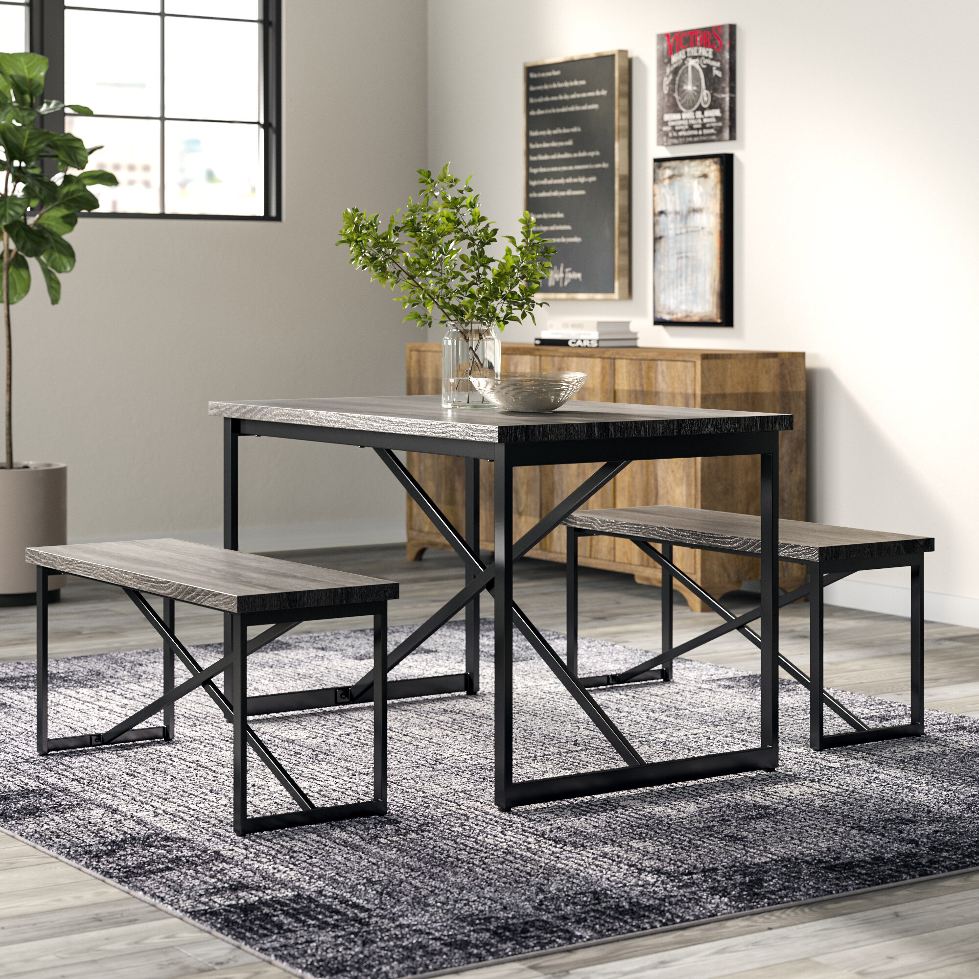 Inspiration about Wayfair.ca Within Most Recent Bearden 3 Piece Dining Sets (#2 of 20)