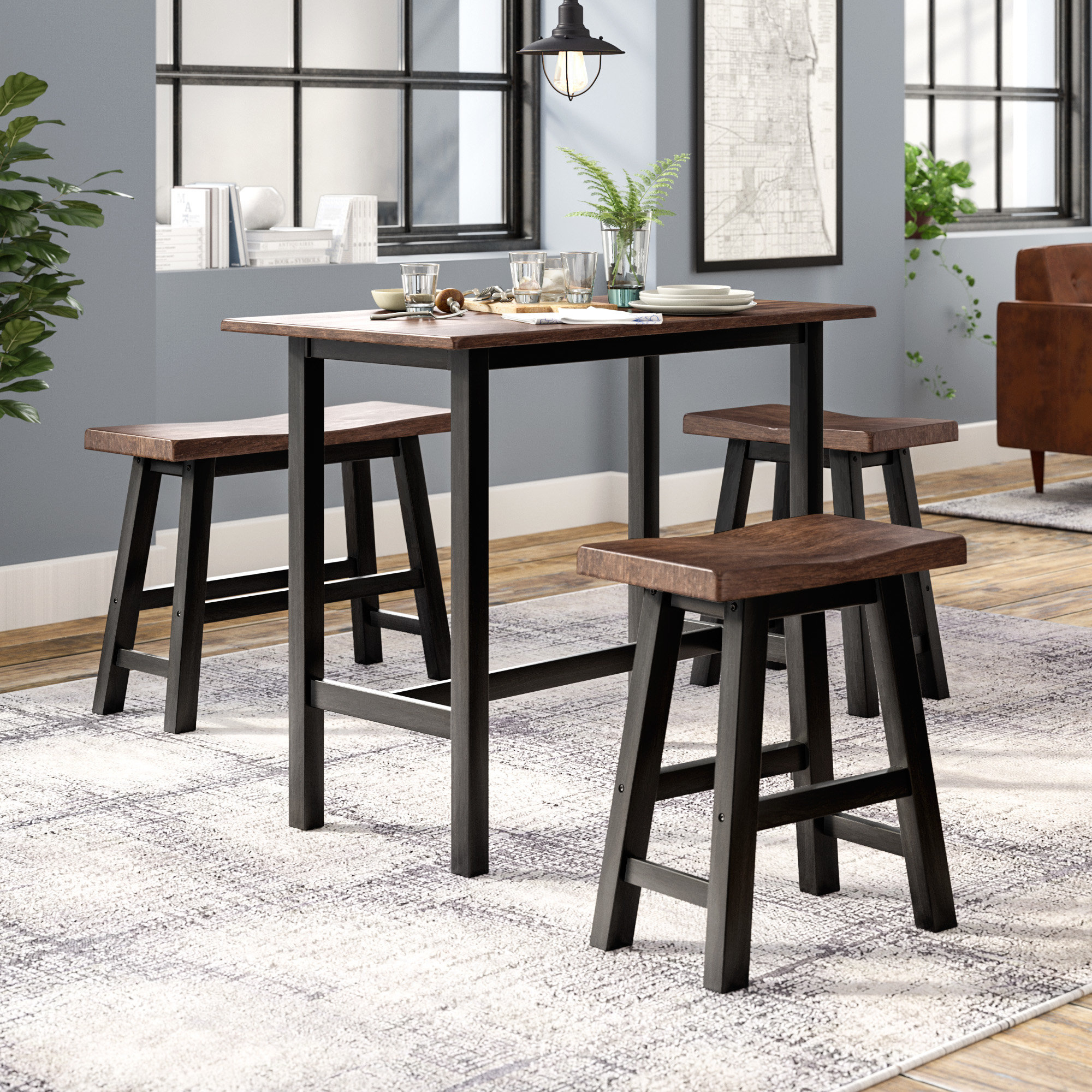 Inspiration about Wayfair For Winsted 4 Piece Counter Height Dining Sets (#5 of 20)