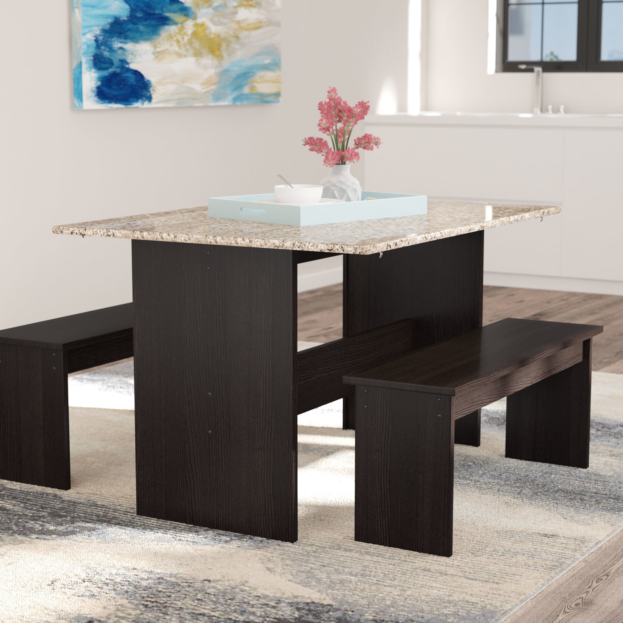 Inspiration about Wayfair In Newest Ryker 3 Piece Dining Sets (#1 of 20)