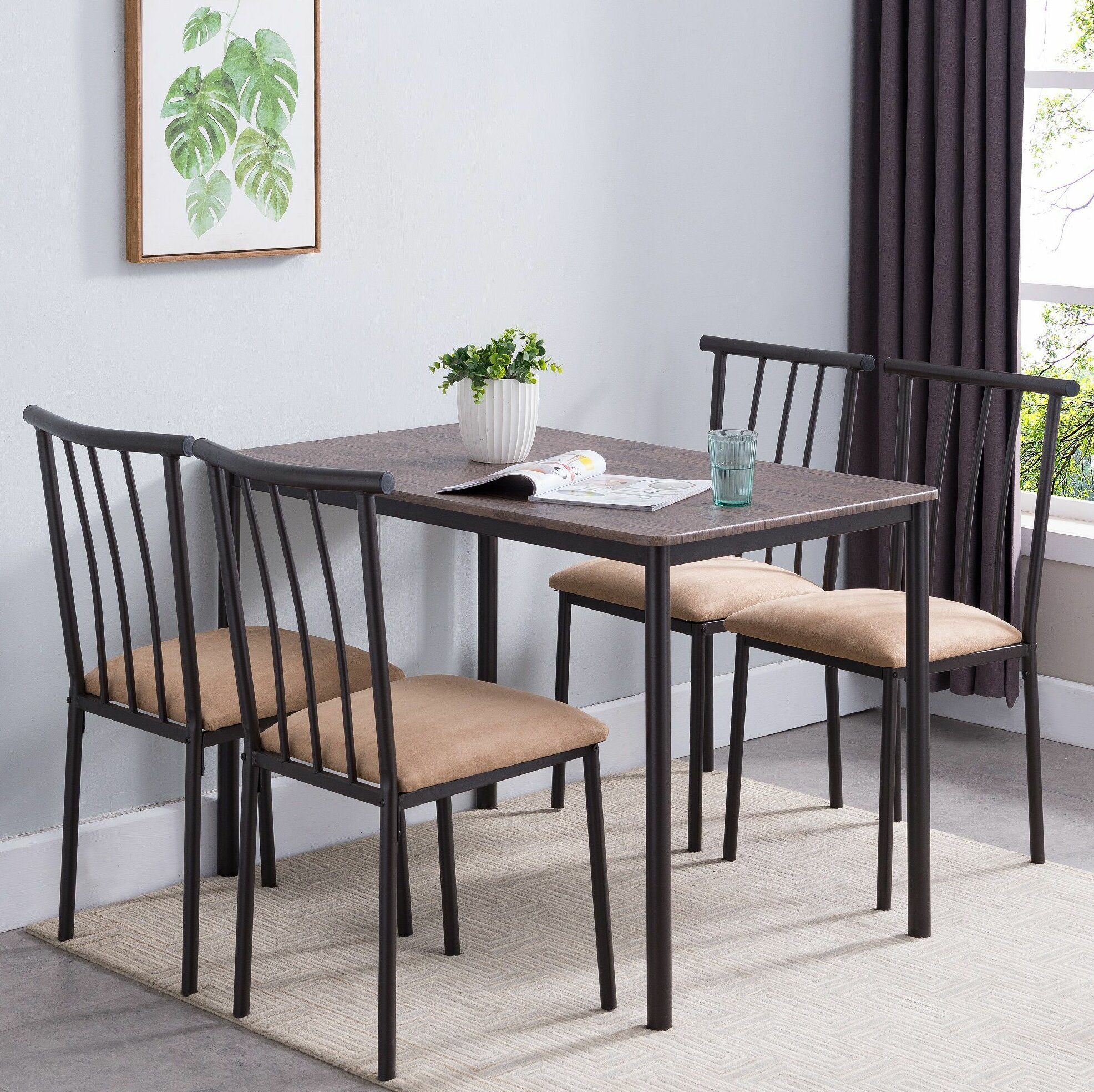 Inspiration about Wayfair In Newest Telauges 5 Piece Dining Sets (#8 of 20)