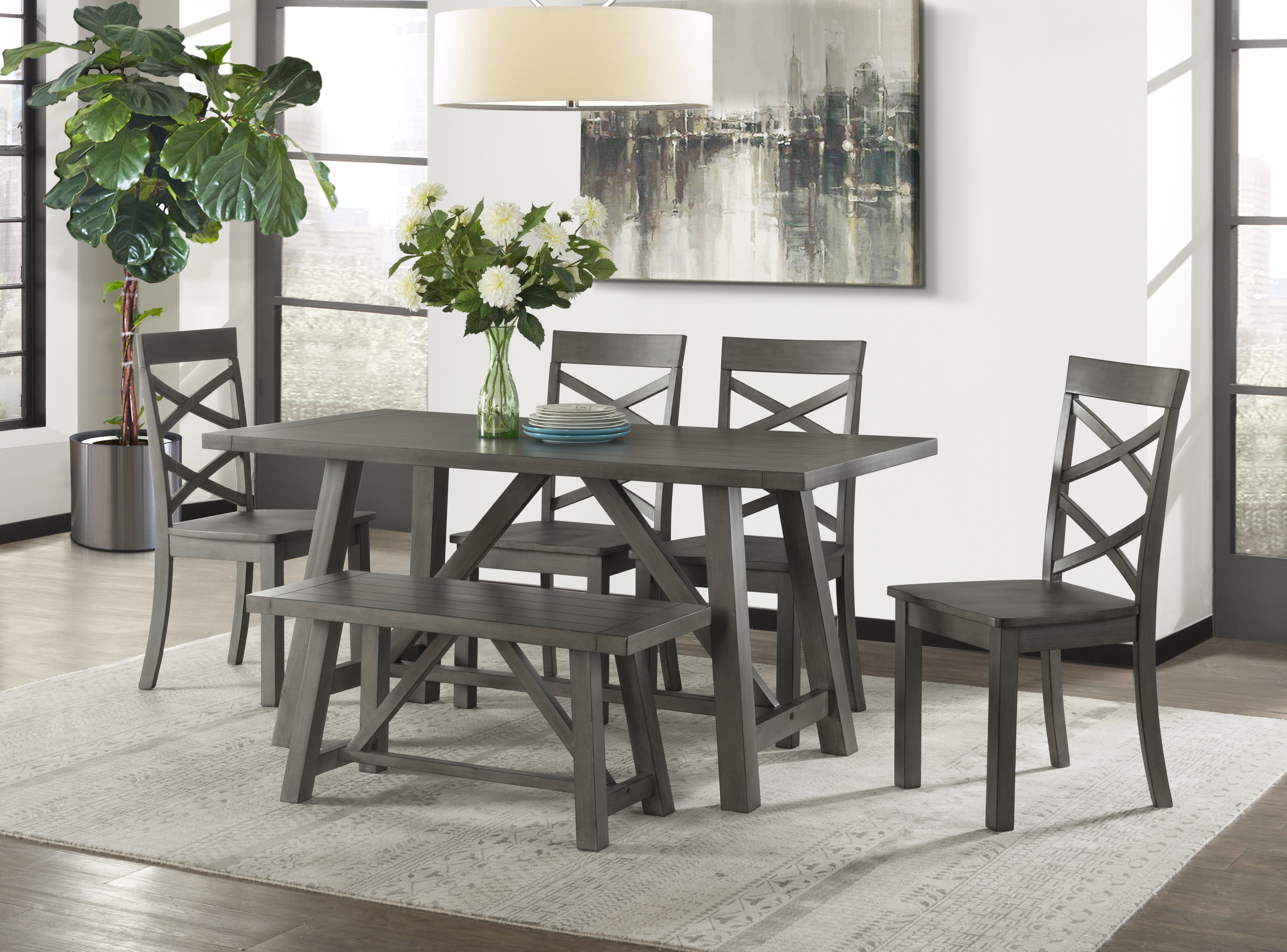 Popular Photo of Osterman 6 Piece Extendable Dining Sets (Set Of 6)