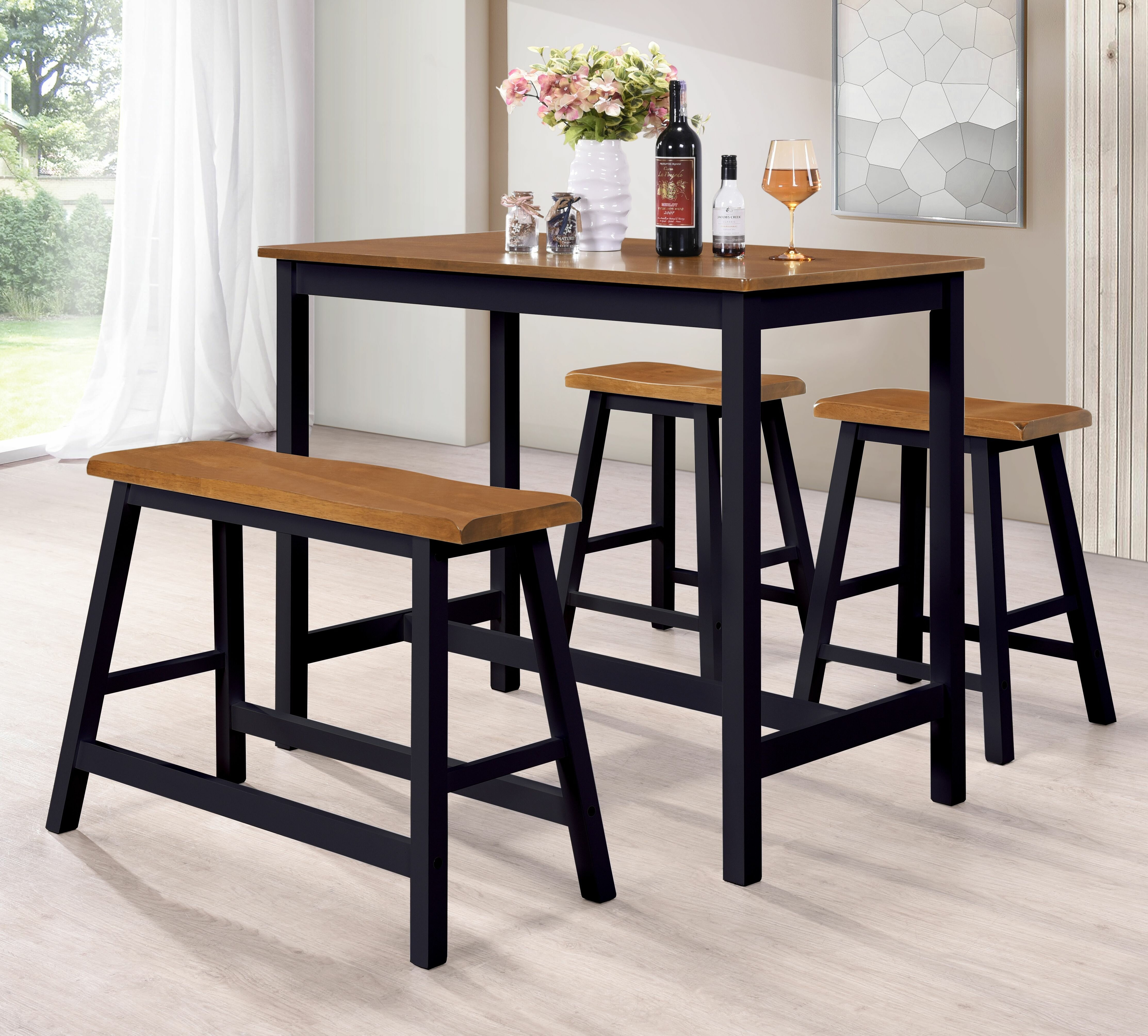 Inspiration about Wayfair Inside Latest Kerley 4 Piece Dining Sets (#18 of 20)