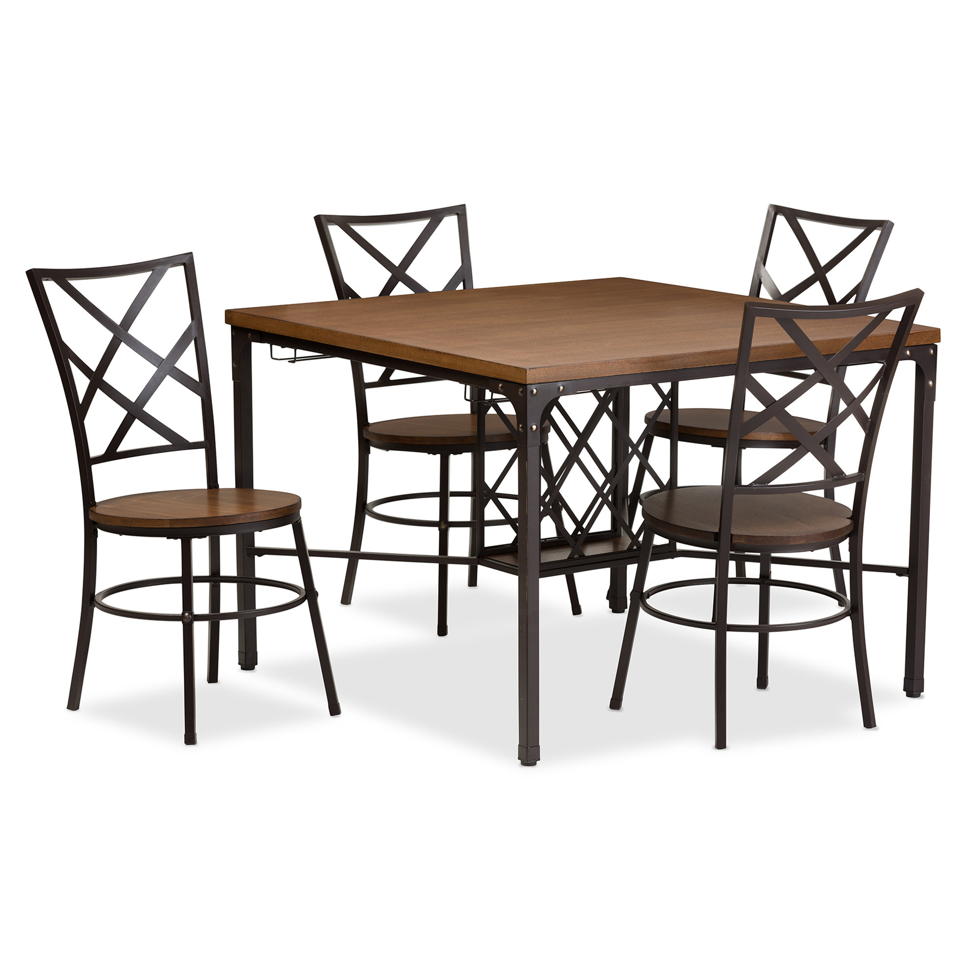 Inspiration about Wayfair Inside Latest Telauges 5 Piece Dining Sets (#4 of 20)