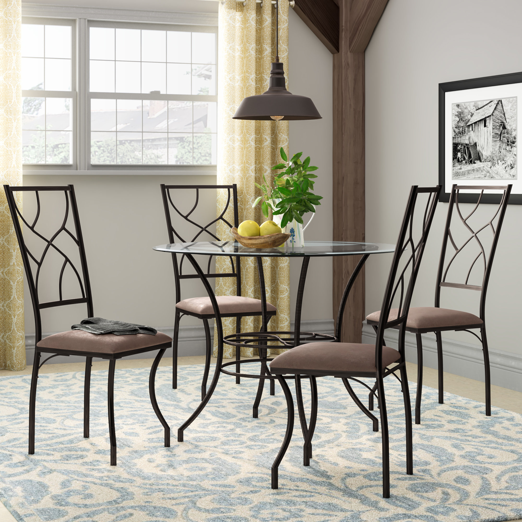 Inspiration about Wayfair Inside Mulvey 5 Piece Dining Sets (#6 of 20)