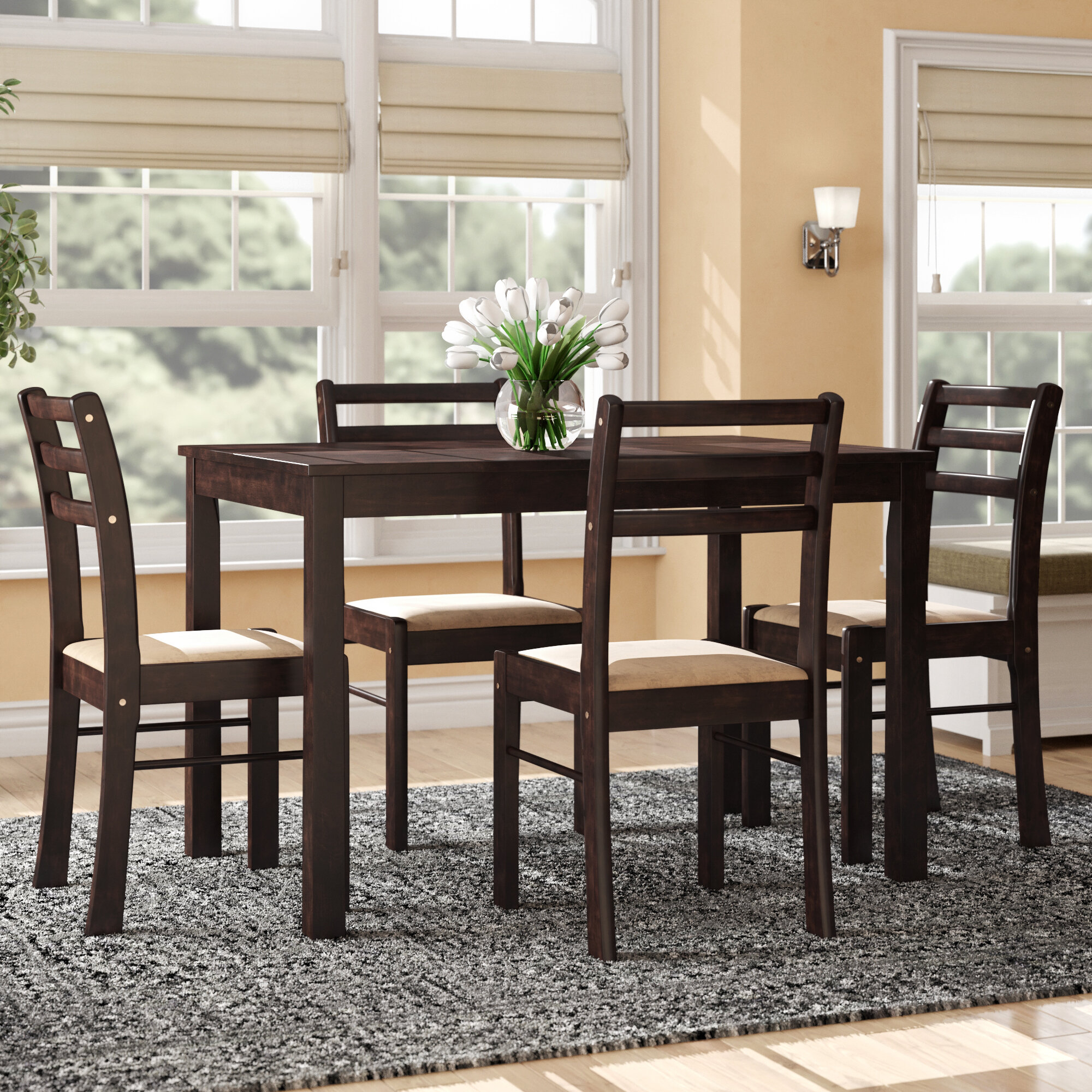 Inspiration about Wayfair Intended For Autberry 5 Piece Dining Sets (#17 of 20)