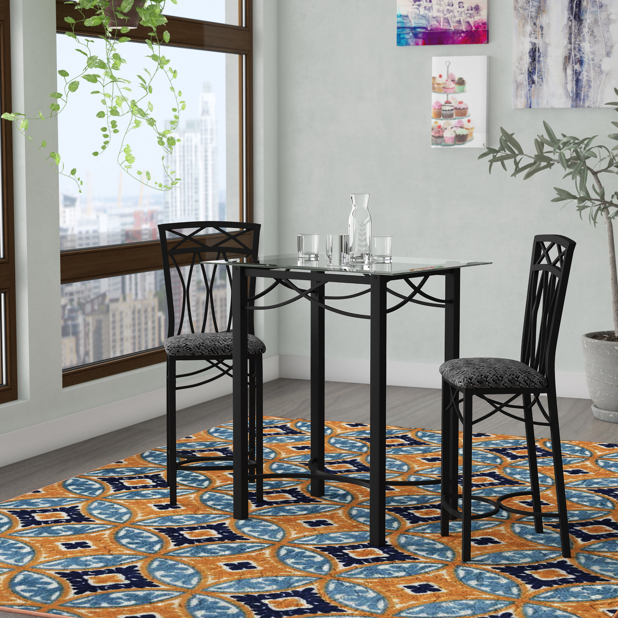Inspiration about Wayfair Intended For Kernville 3 Piece Counter Height Dining Sets (#9 of 20)