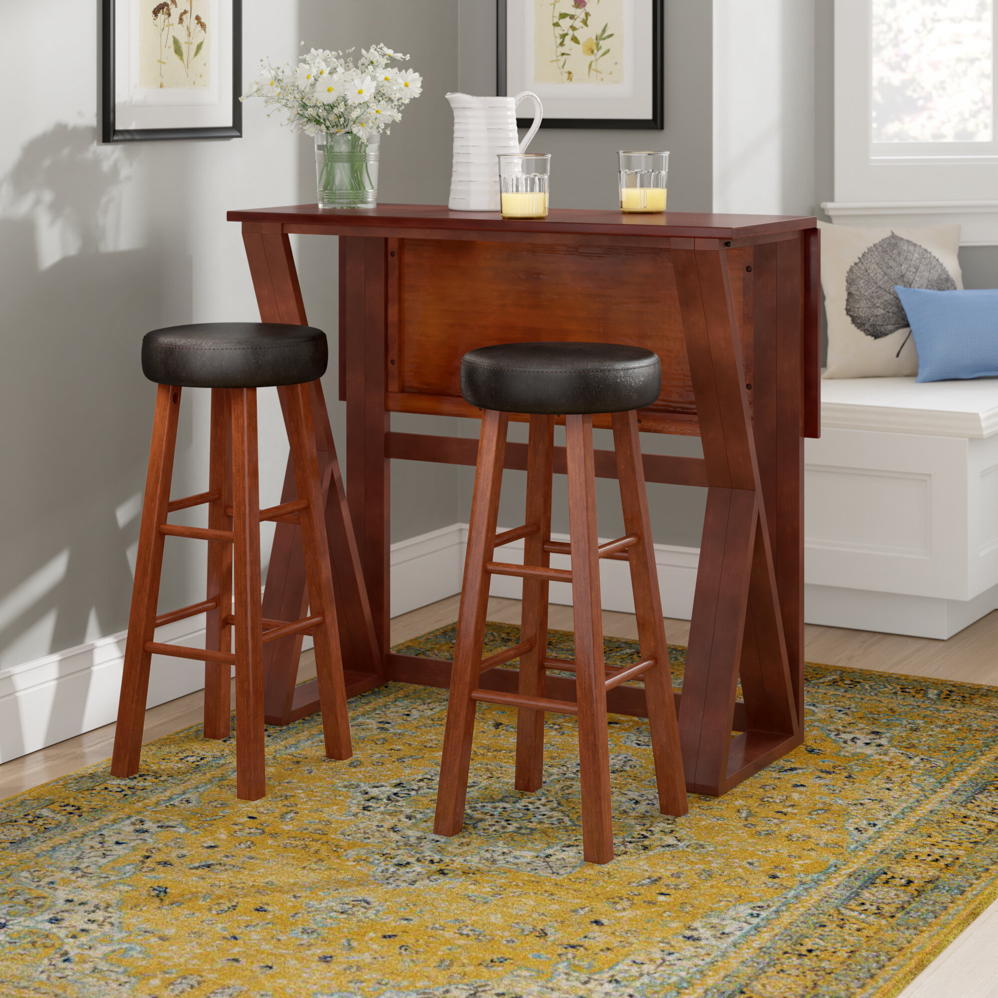 Wayfair Intended For Most Recently Released Moorehead 3 Piece Counter Height Dining Sets (#14 of 20)