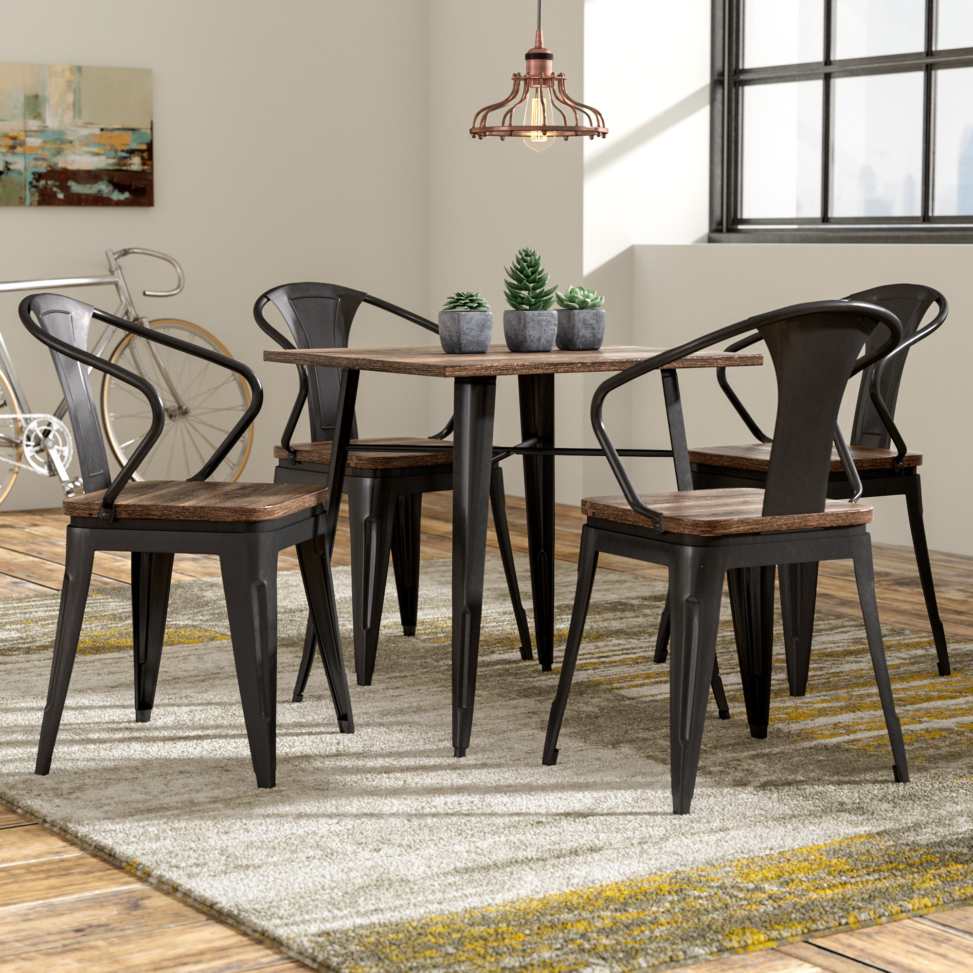 Inspiration about Wayfair Intended For Mulvey 5 Piece Dining Sets (#4 of 20)