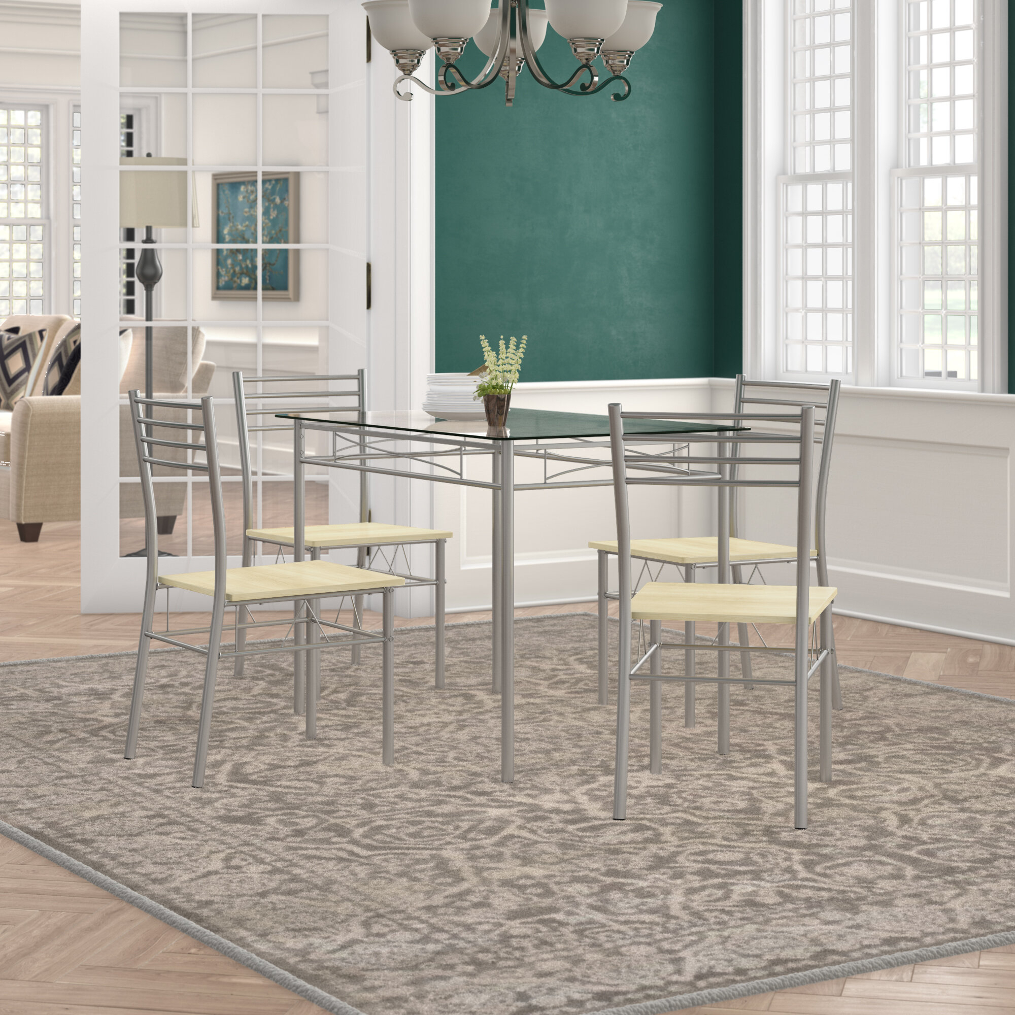 Inspiration about Wayfair Intended For Recent Tavarez 5 Piece Dining Sets (#1 of 20)