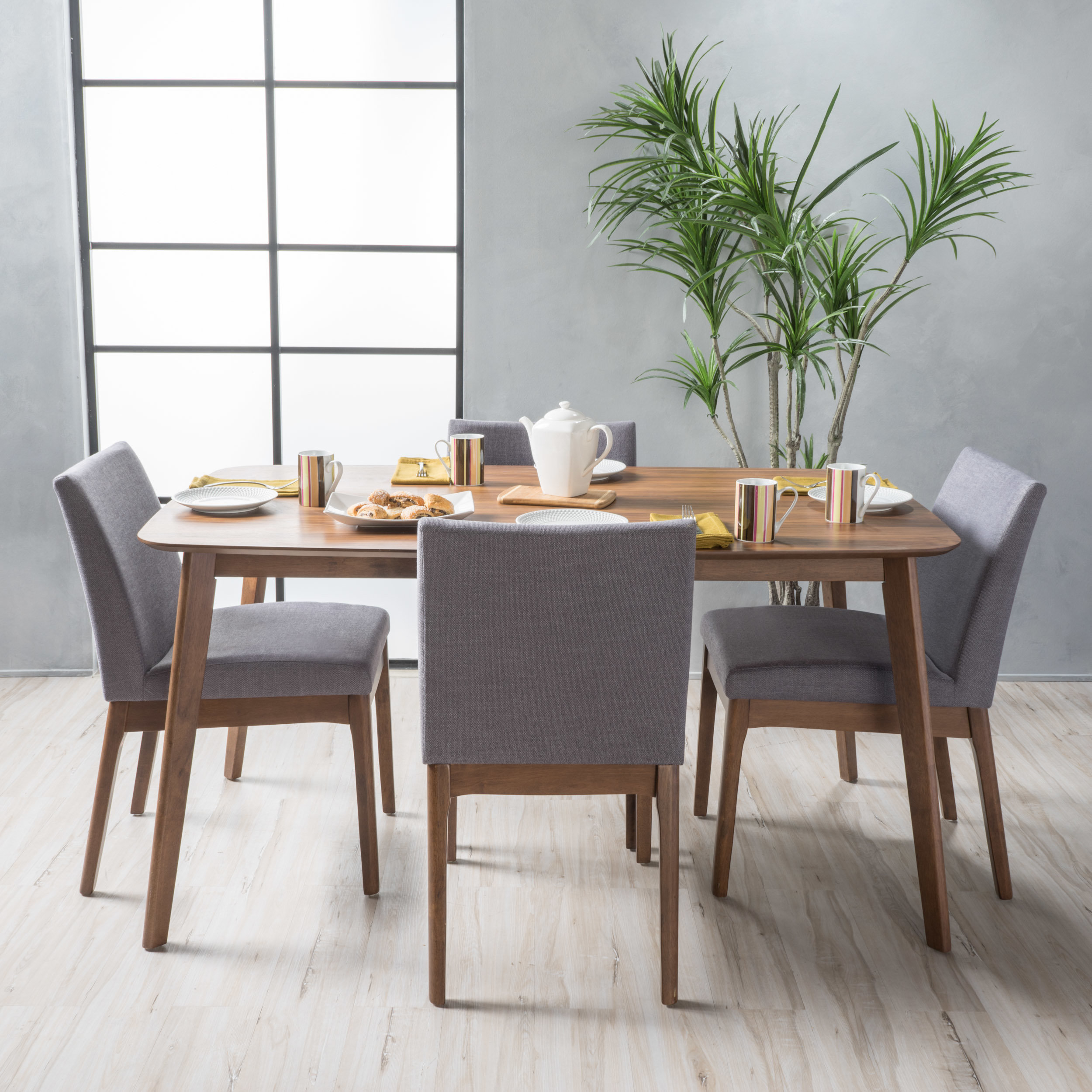 Inspiration about Wayfair Regarding Evellen 5 Piece Solid Wood Dining Sets (Set Of 5) (#5 of 20)