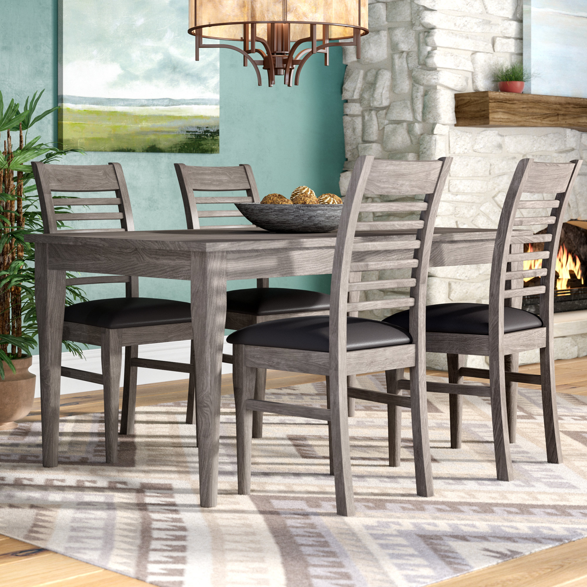 Inspiration about Wayfair Regarding Well Liked Hanska Wooden 5 Piece Counter Height Dining Table Sets (Set Of 5) (#4 of 20)