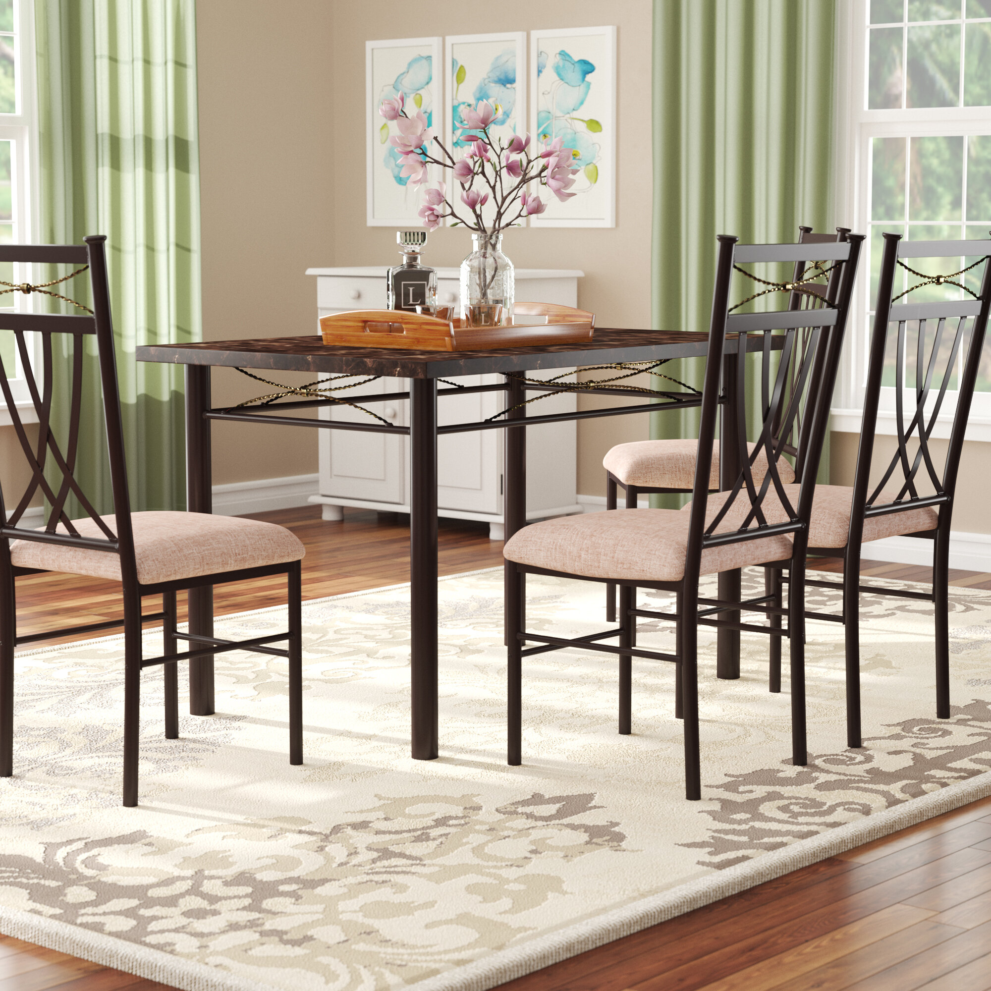 Inspiration about Wayfair Throughout Well Known Ganya 5 Piece Dining Sets (#2 of 20)