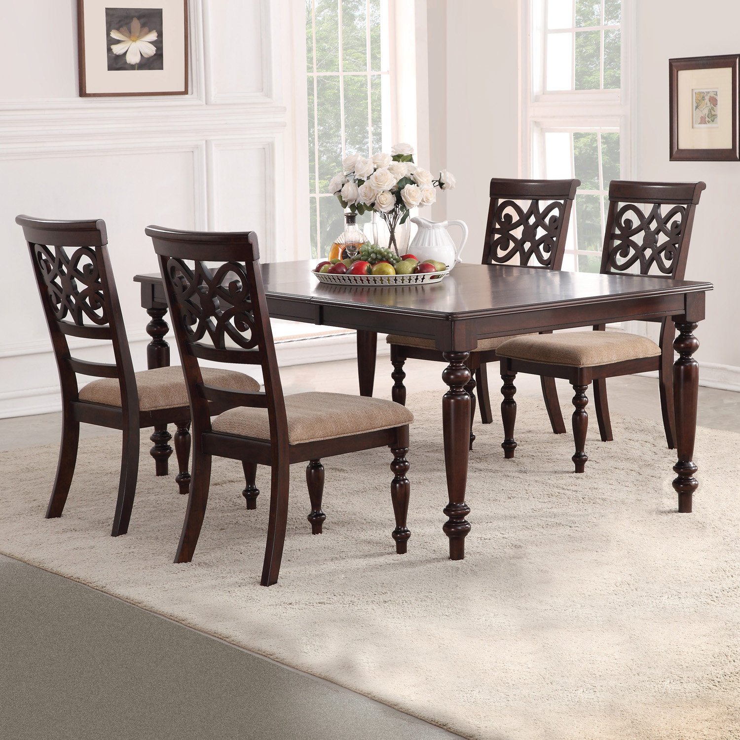 Wayfair With Favorite Laconia 7 Pieces Solid Wood Dining Sets (Set Of 7) (#17 of 20)