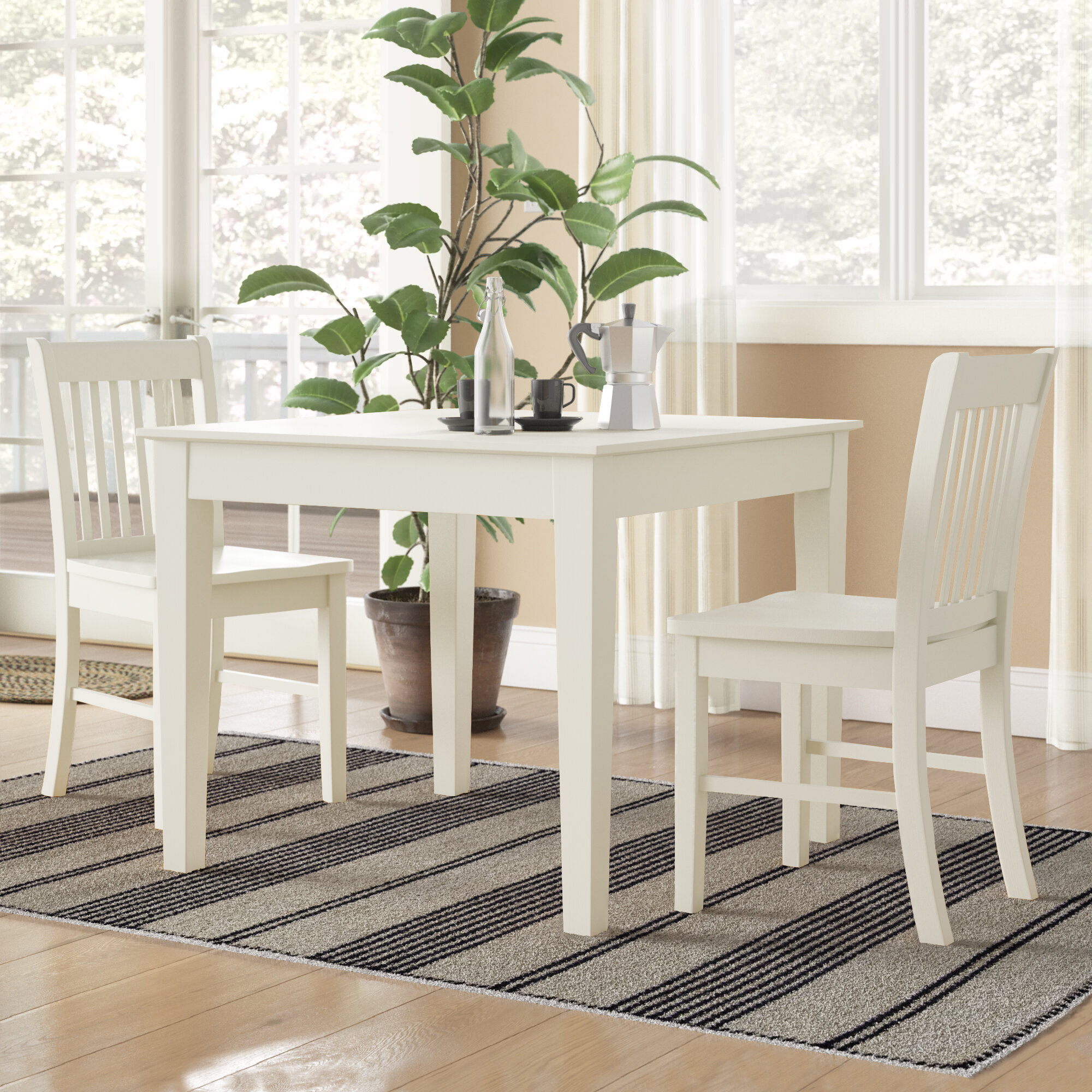 Inspiration about Wayfair With Most Up To Date Yedinak 5 Piece Solid Wood Dining Sets (#17 of 20)