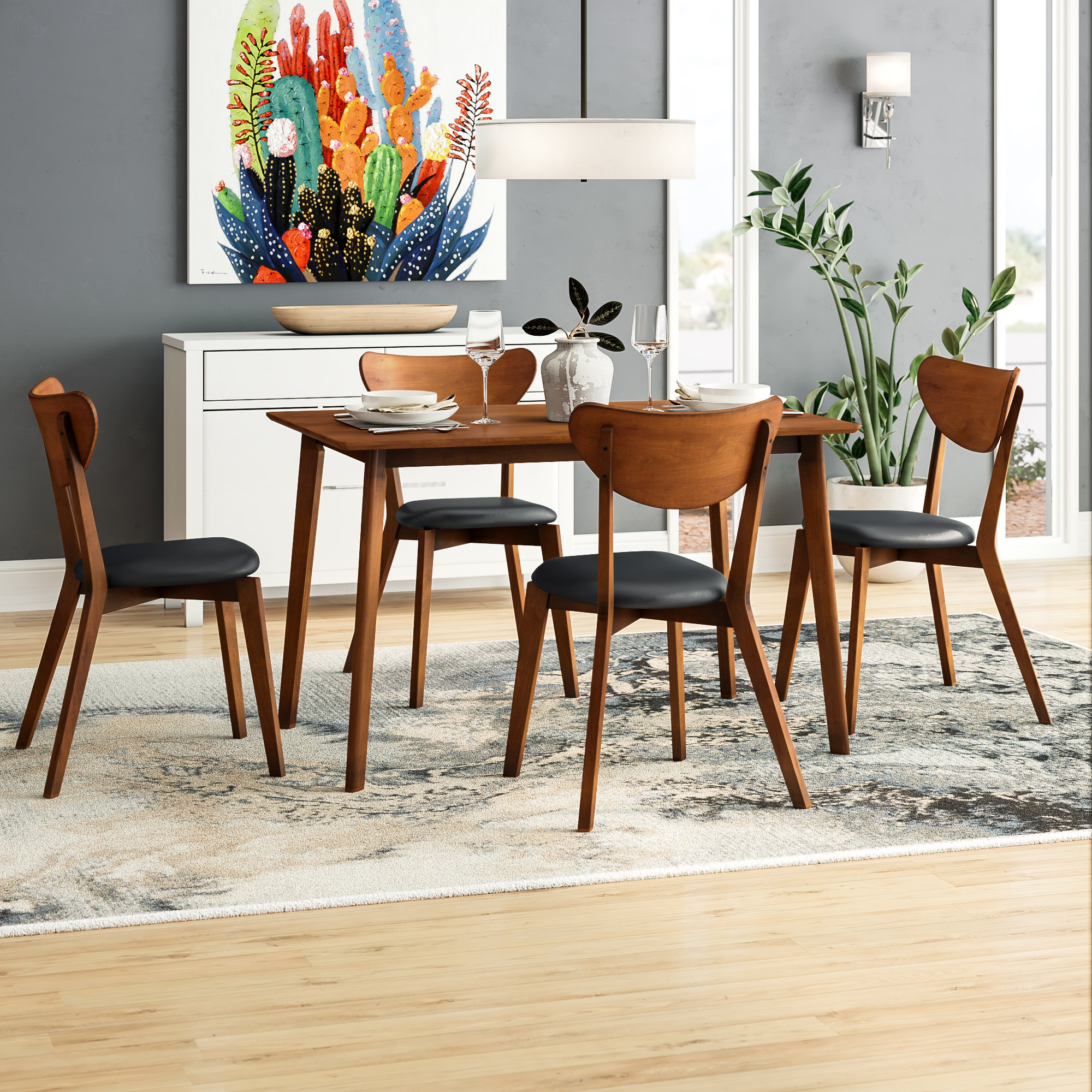 Inspiration about Wayfair With Regard To Goodman 5 Piece Solid Wood Dining Sets (Set Of 5) (#14 of 20)