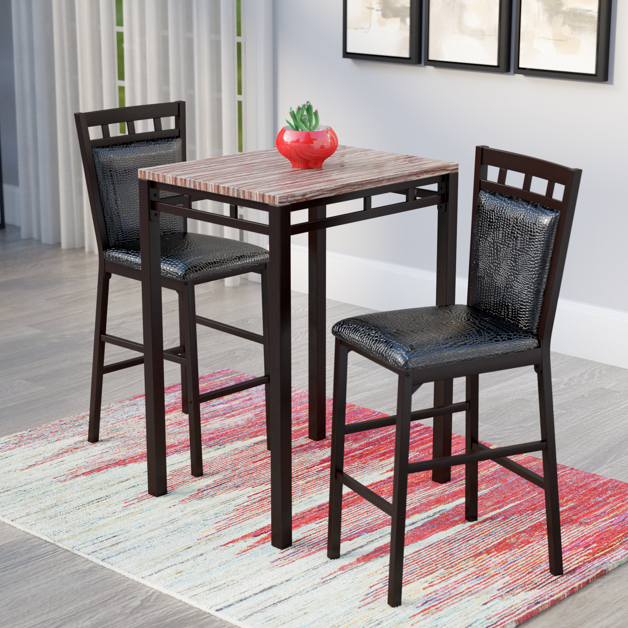 Wayfair With Regard To Most Recent Miskell 3 Piece Dining Sets (#18 of 20)