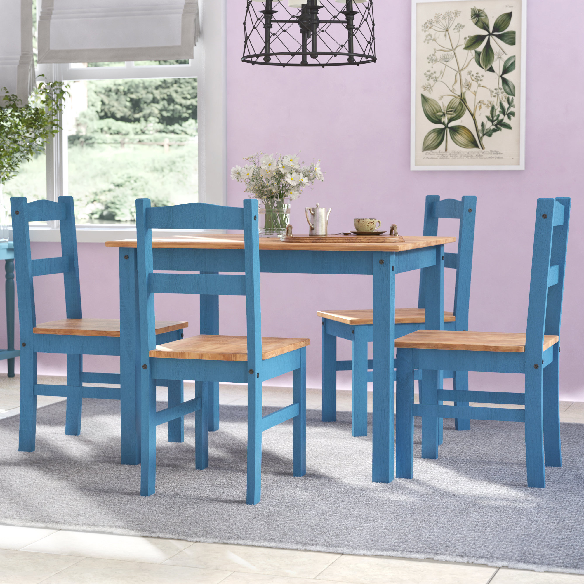 Inspiration about Wayfair With Yedinak 5 Piece Solid Wood Dining Sets (#5 of 20)