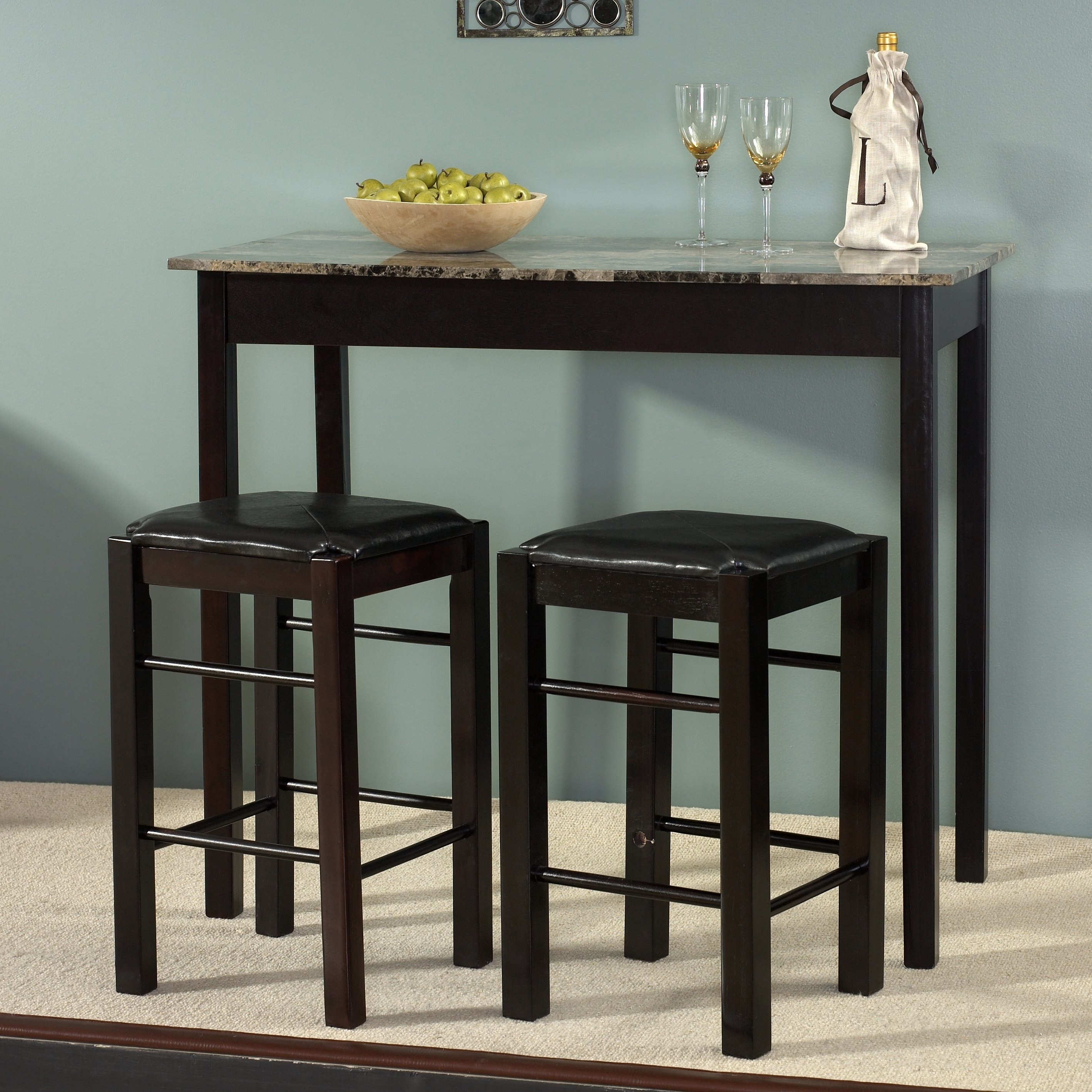 Inspiration about Weatherholt Dining Tables Within Favorite Sheetz 3 Piece Counter Height Dining Set & Reviews (#18 of 20)